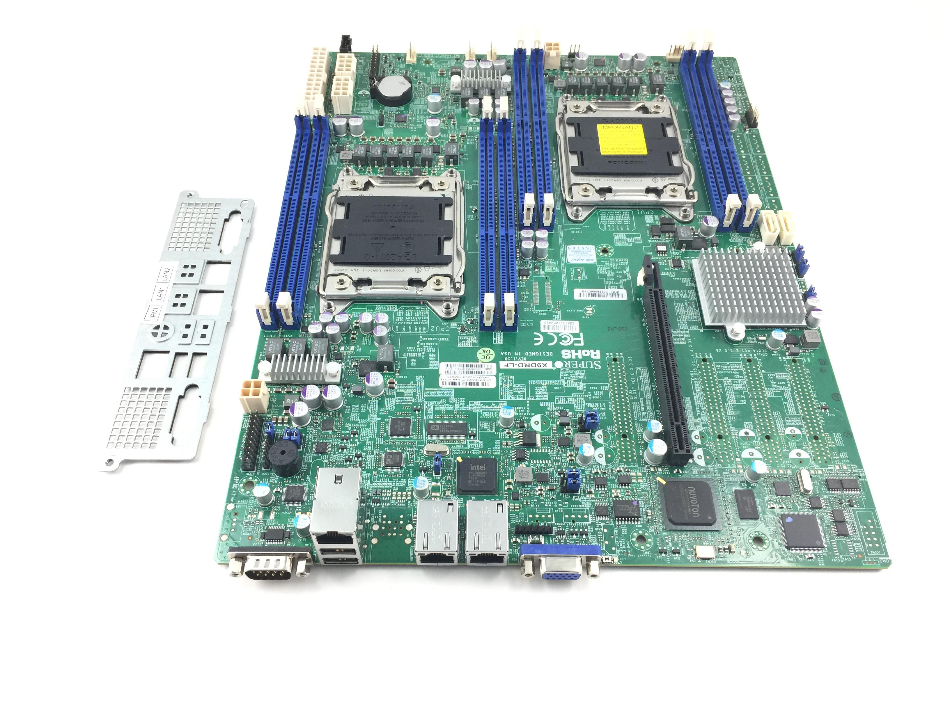 Supermicro Dual Socket LGA 2011 E-Atx Server System Board W/ Io Plate (X9DRD-LF)