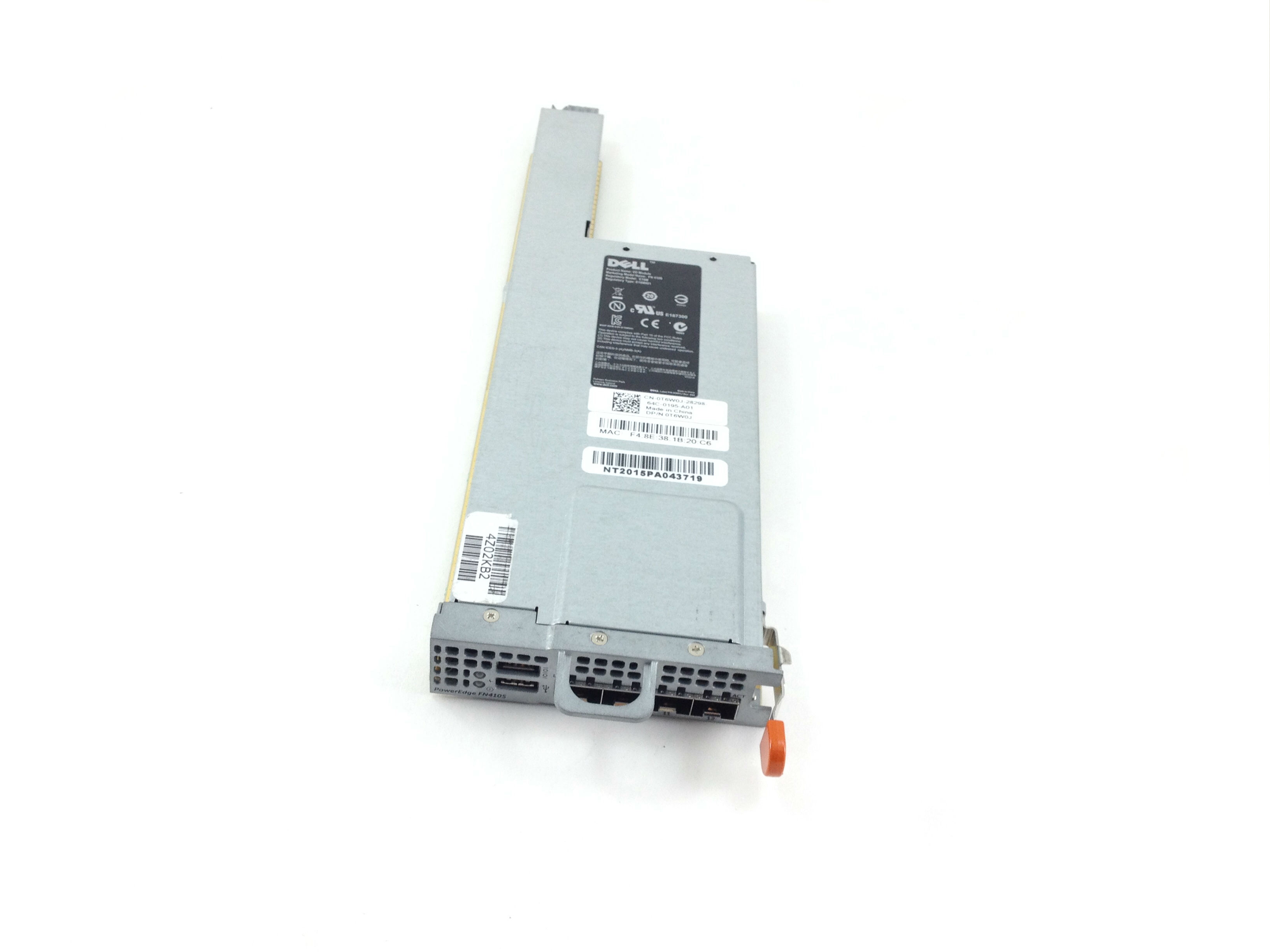 Dell PowerEdge Fn410S 10Gbe 4 Port SFP+ Io Aggregator For Fx2 / FX2S (T6W0J)