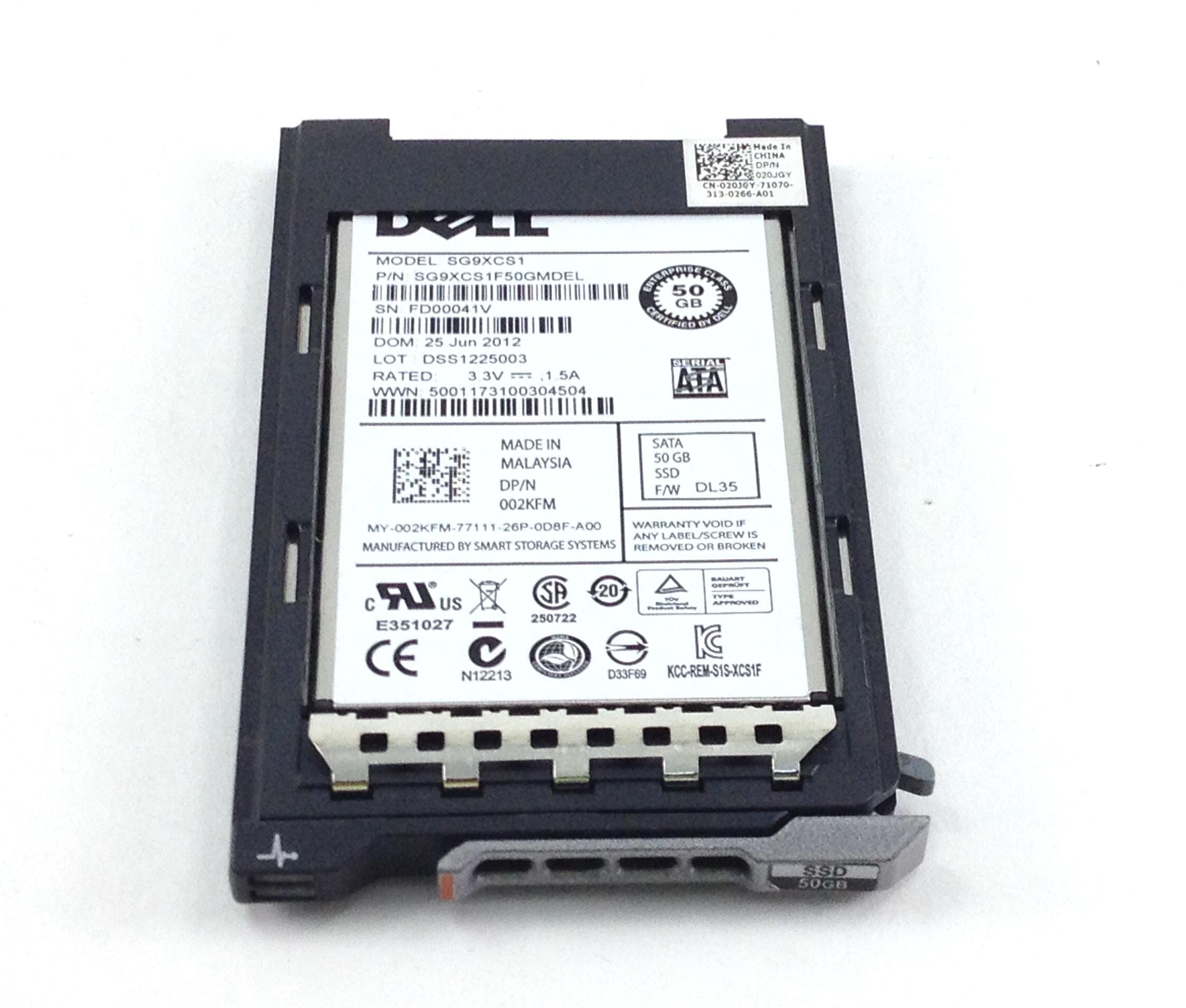 DELL 50GB SSD USATA 1.8'' ENTERPRISE MICRO SATA SOLID STATE HARD DRIVE (02KFM)
