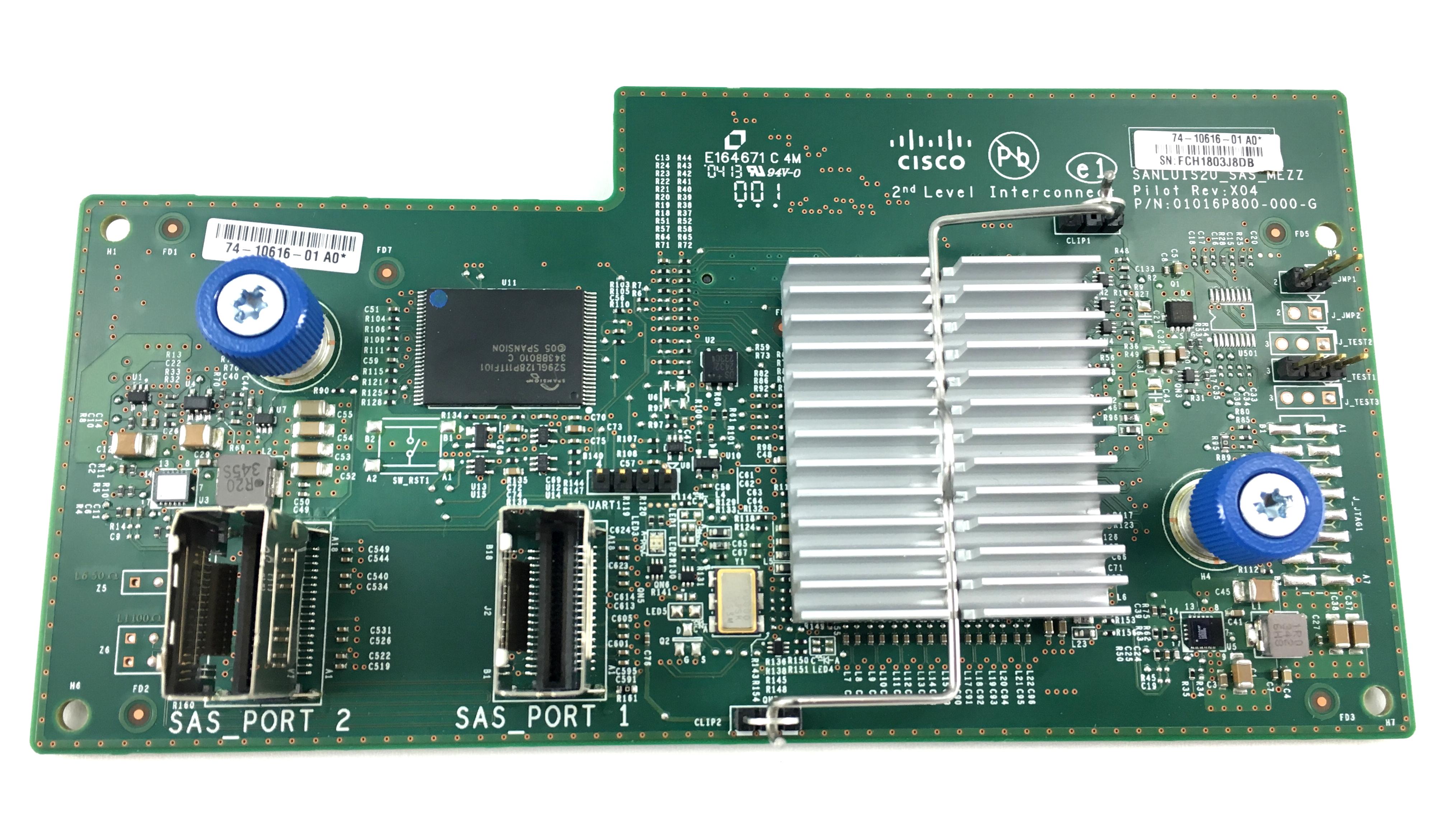 Cisco Second Level SAS Mezzanine Card (01016P800)