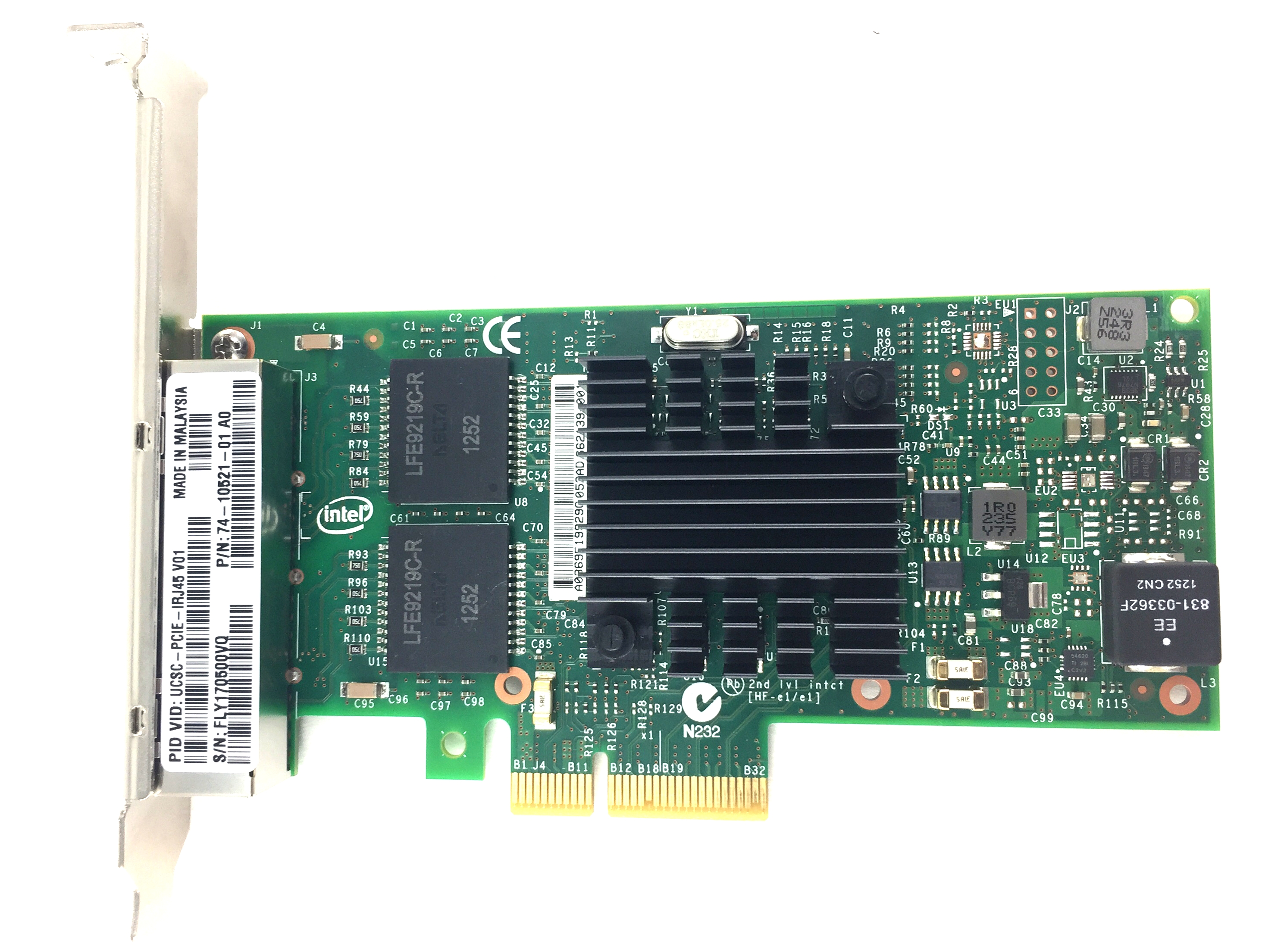 CISCO GIGABIT QUAD 4 PORT PCI-E NETWORK ADAPTER (74-10521-01)