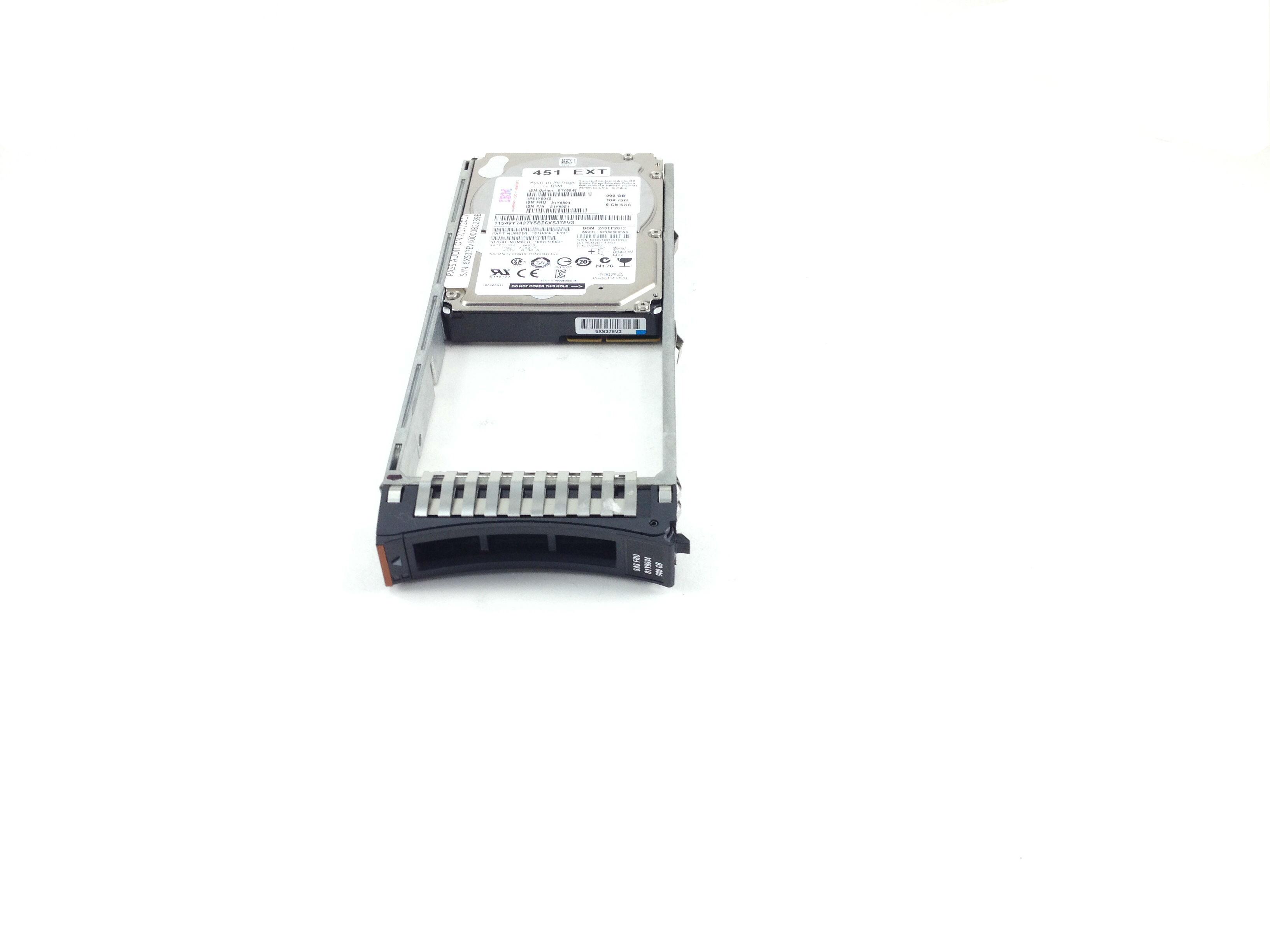 IBM 900GB 10K 6Gbps SAS 2.5'' Hard Drive w/ Tray (81Y9894)