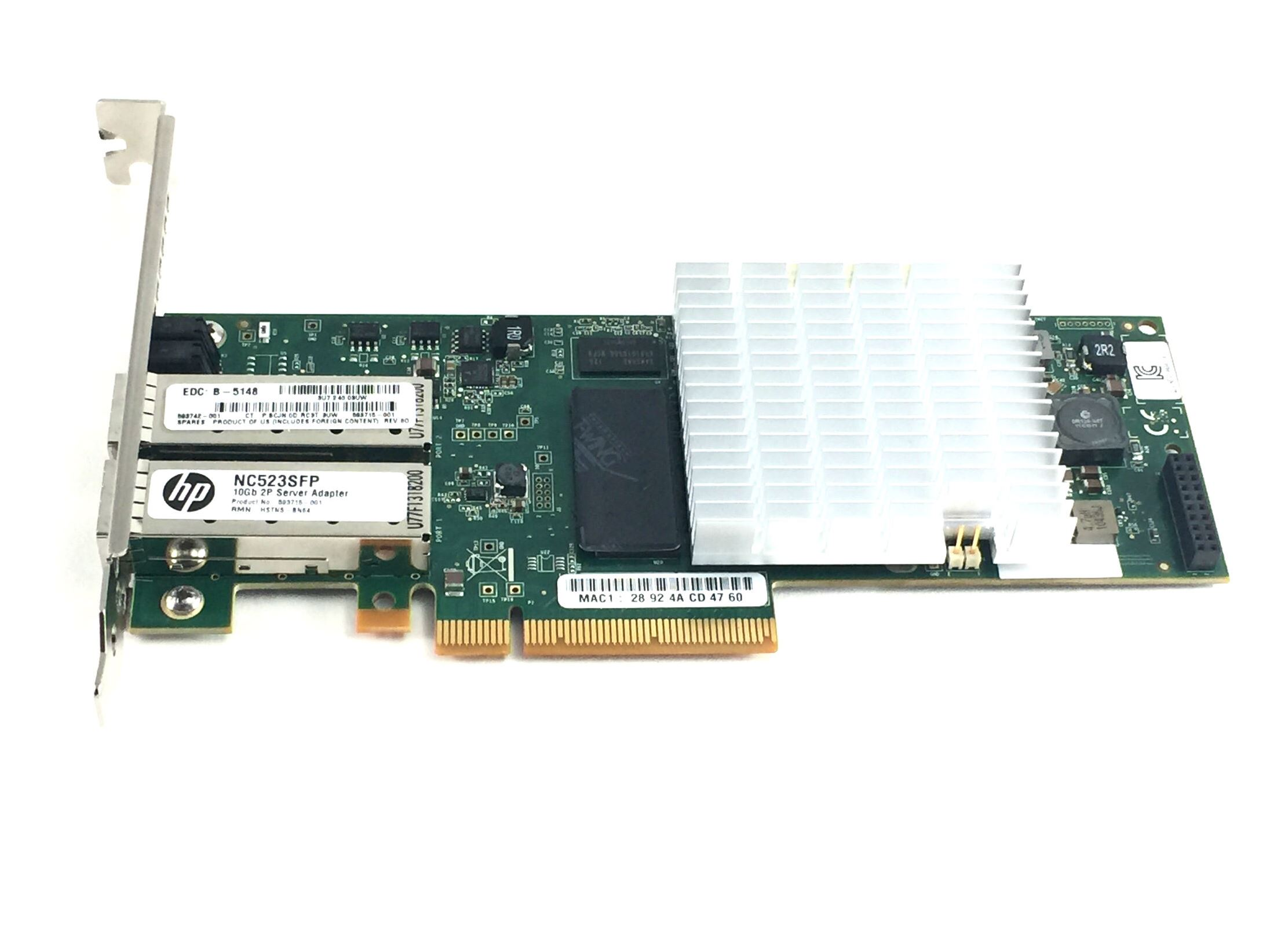 HP Nc523SFP Qle3242 10GB Dual Port SFP Network Adapter (593742-001)