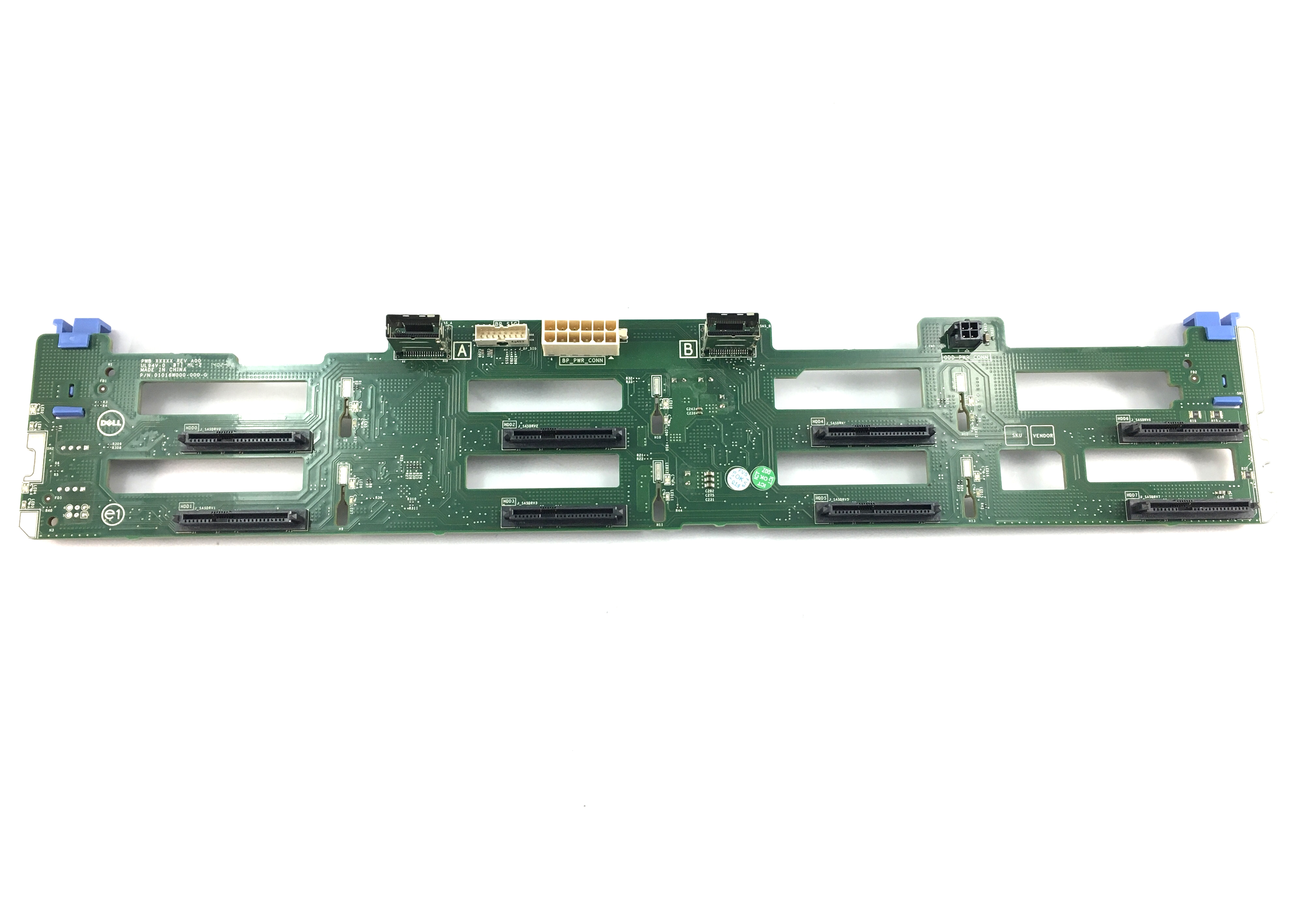 Dell PowerEdge R520 8 X 3.5'' LFF Hard Drive Backplane Board (XP569)