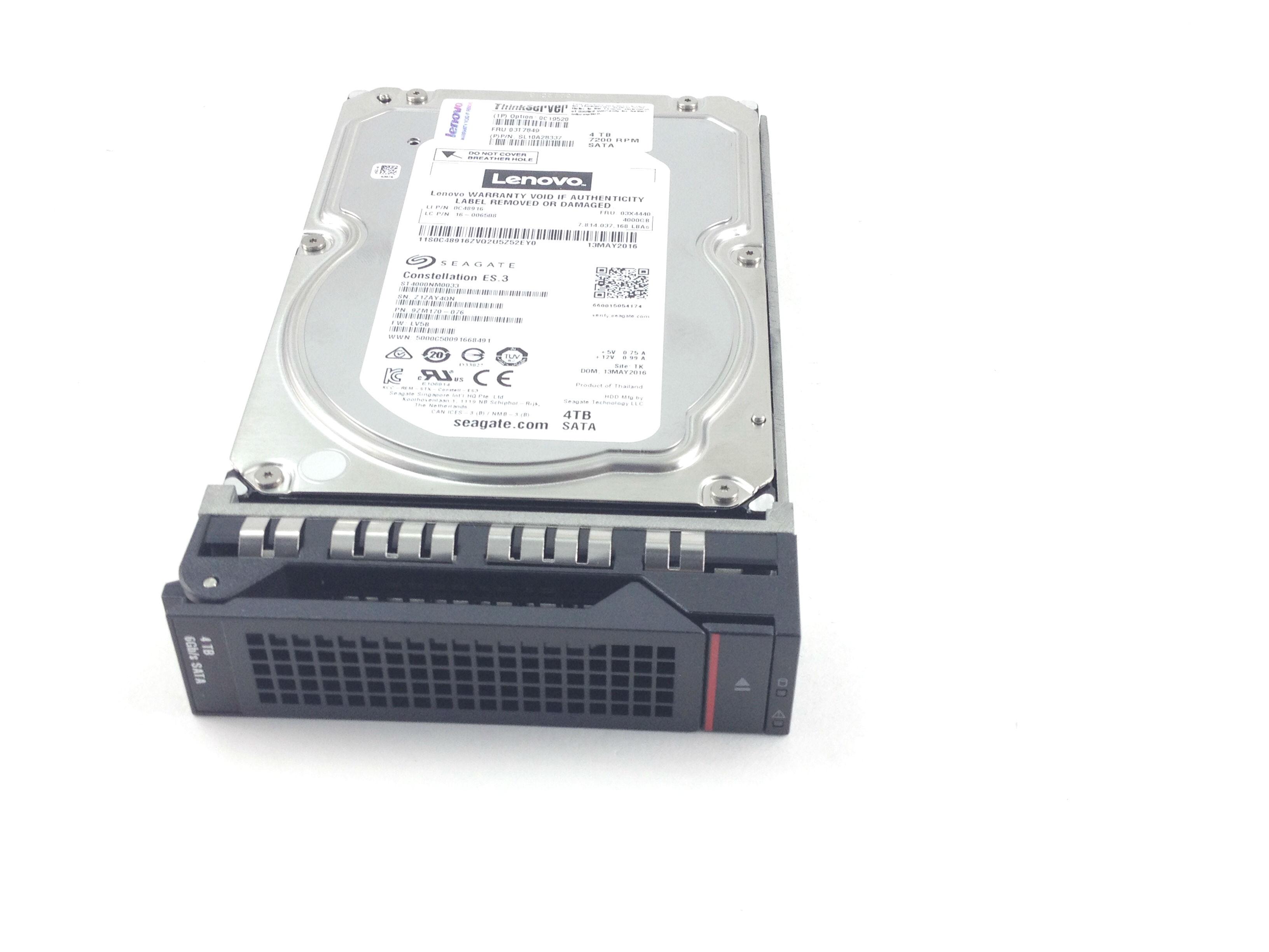 IBM Lenovo 4TB 7.2K 6Gbps SATA 3.5'' Hard Drive (03T7849)