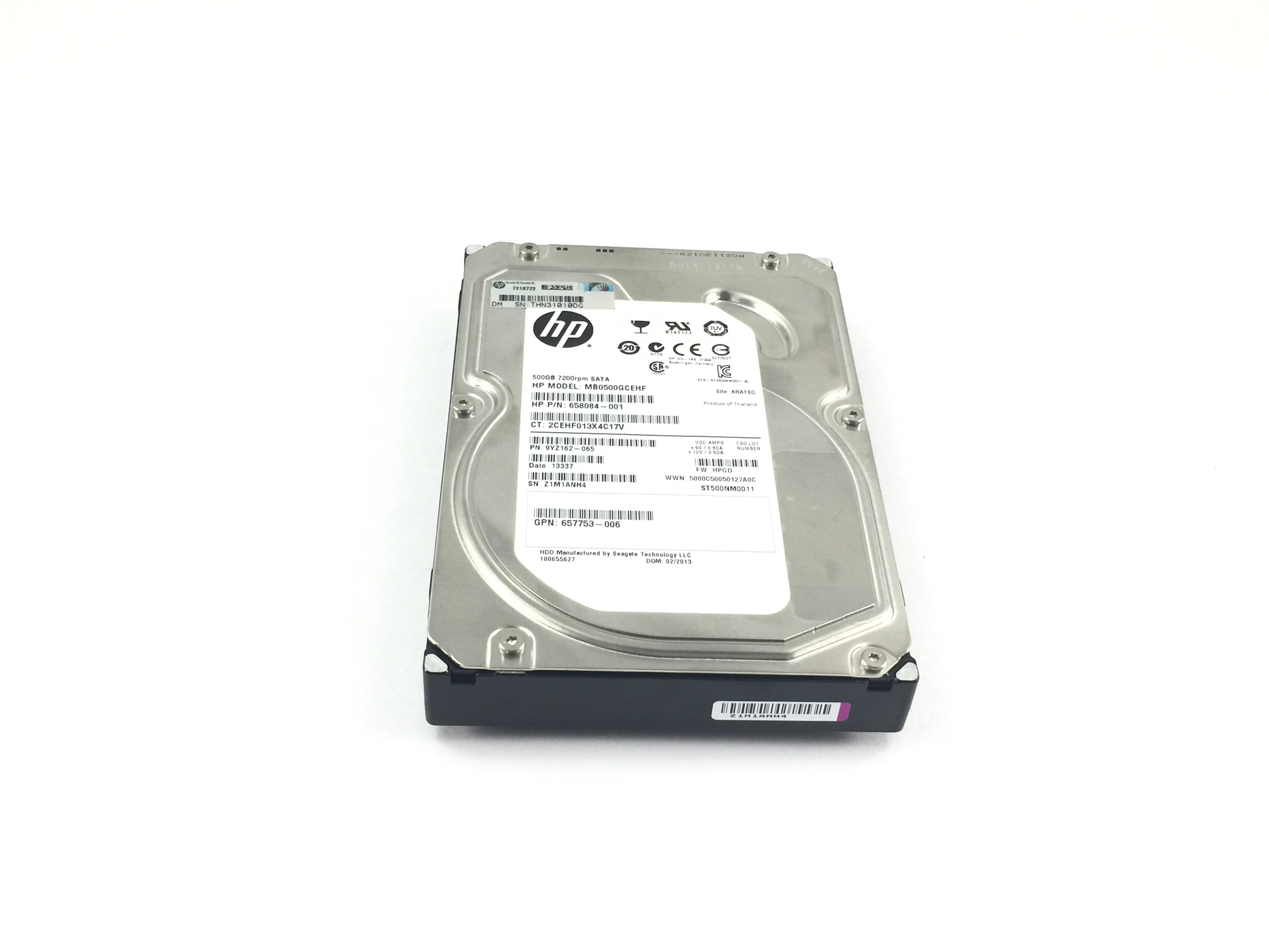 HP 500GB 7.2K 6Gbps SATA 3.5'' Hard Drive (658084-001)