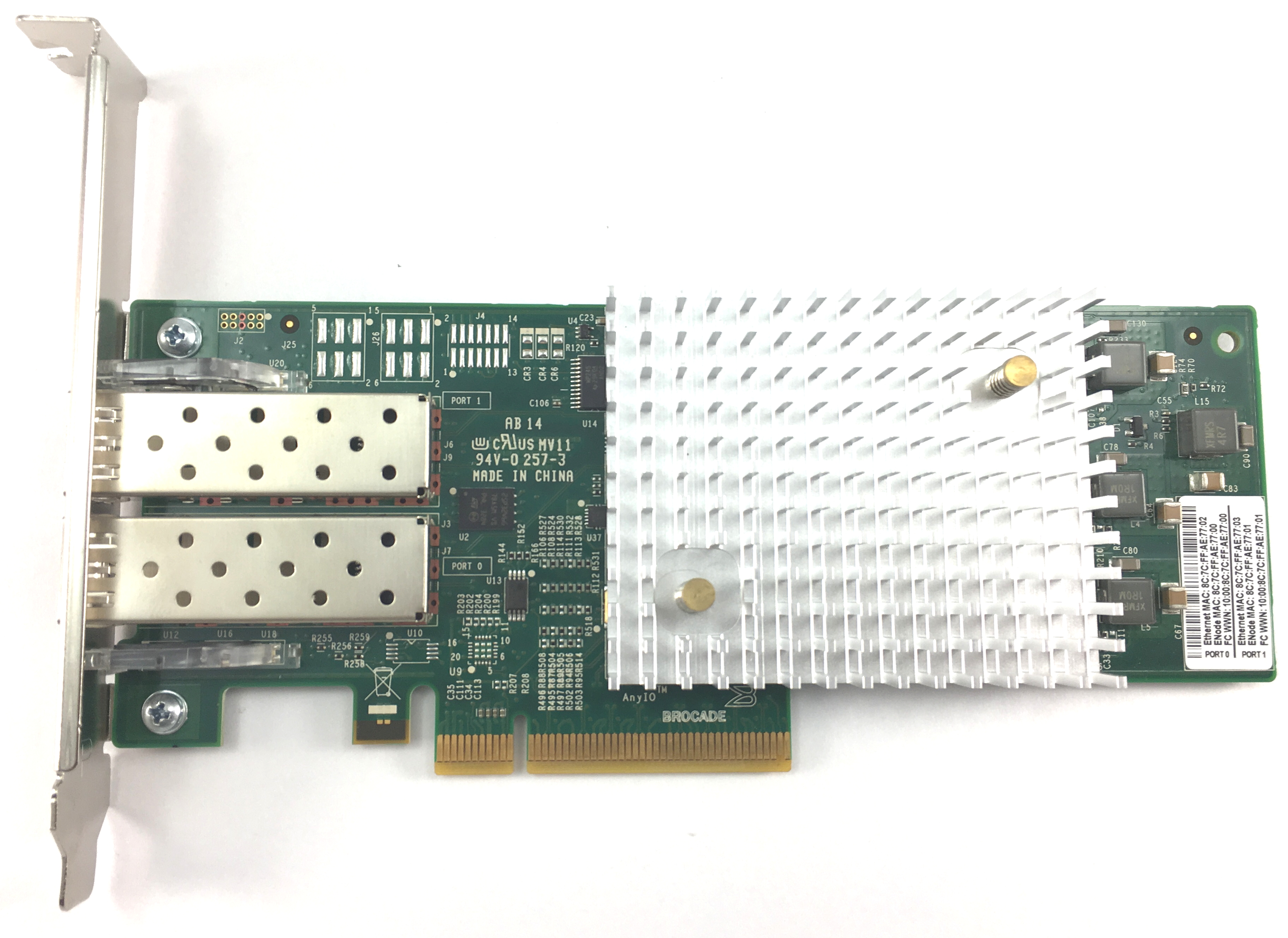 Brocade 18602 16GB Dual Port Host Bus Adapter (80-1006035-03)