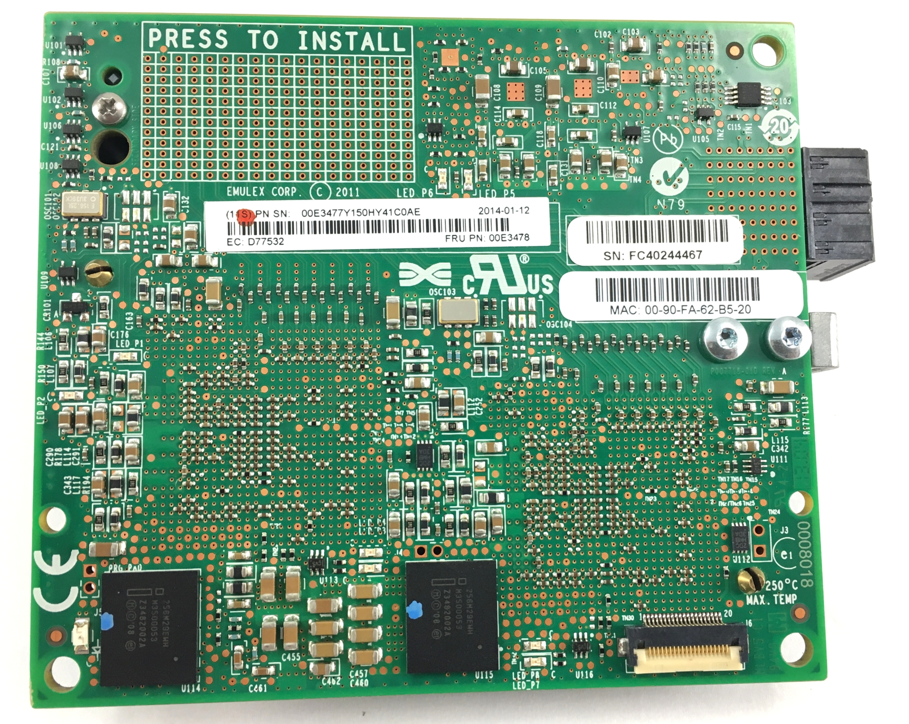 IBM Flex System Ethernet Adapter (00E3478)