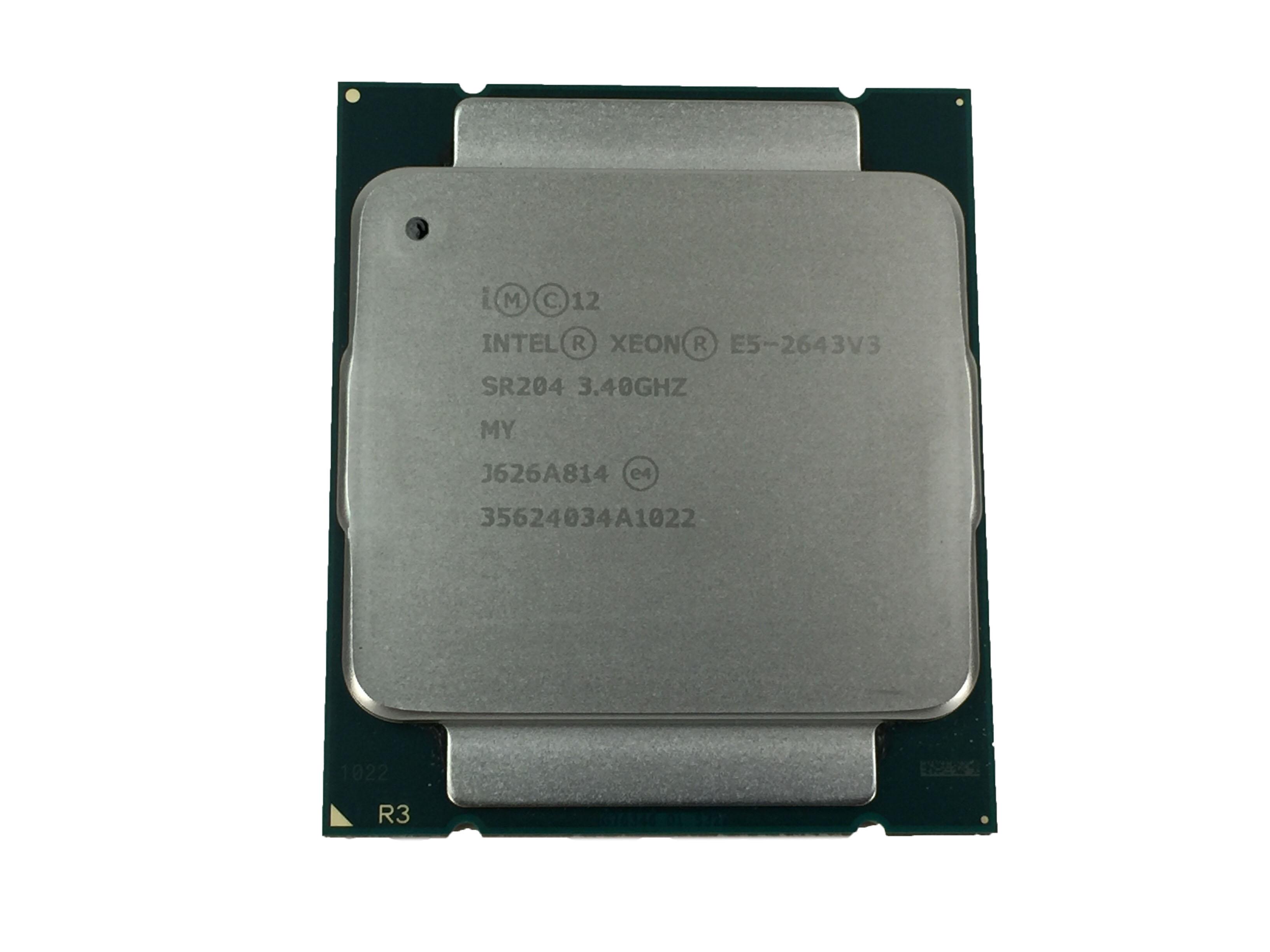 INTEL XEON E5-2643V3 3.4GHZ 6 CORE 20MB LGA2011 PROCESSOR. (SR204)