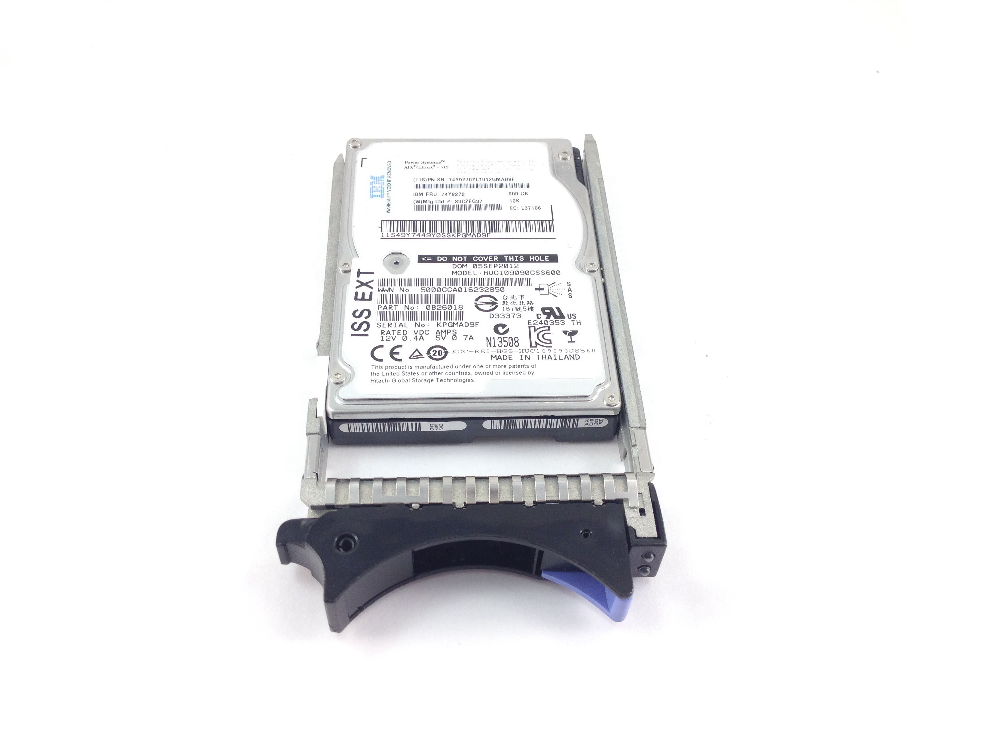 IBM Power System 900GB 10K SAS 2.5'' Hard Disk Drive (74Y9272)