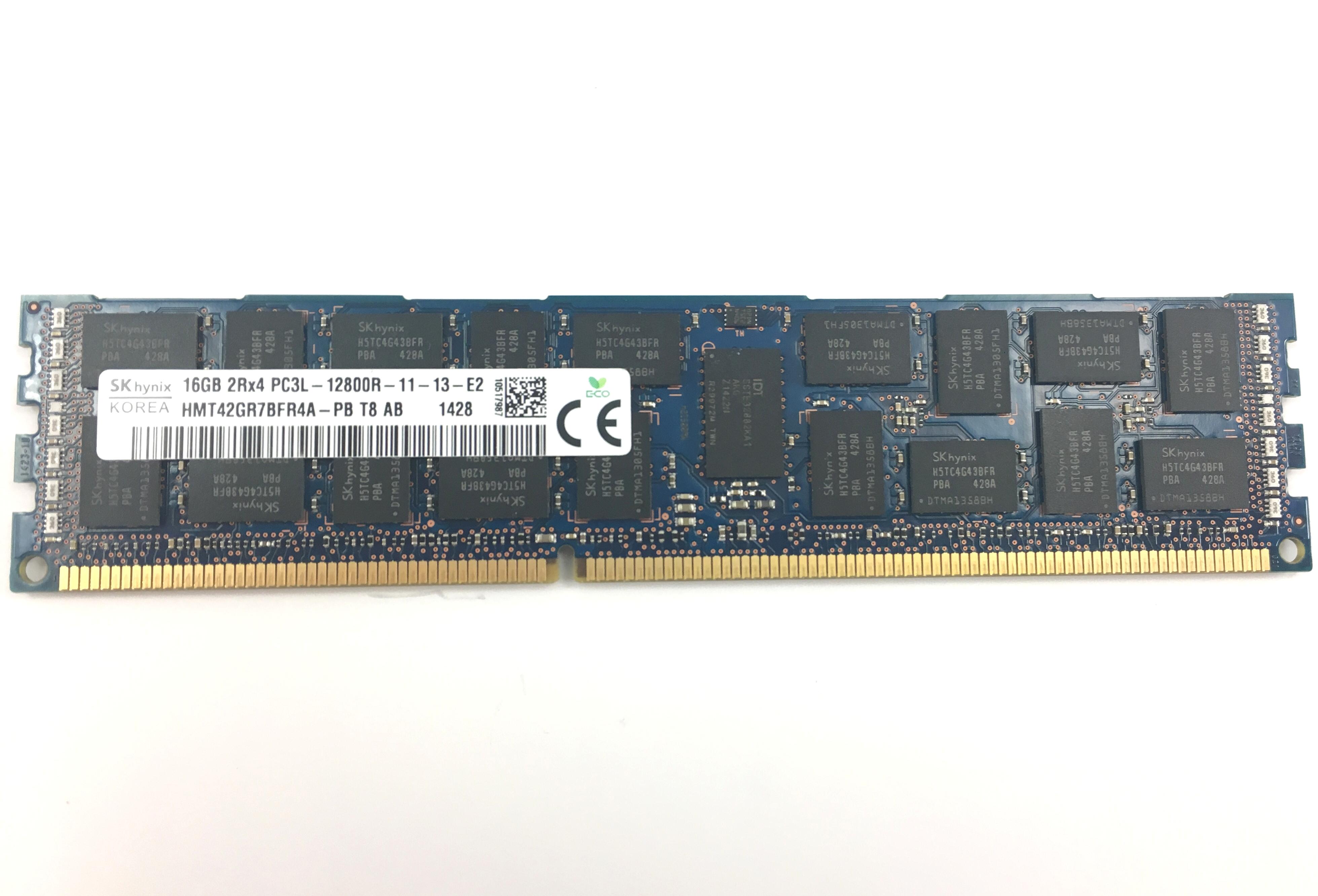 Hynix 16GB 2Rx4 PC3L-12800R DDR3 ECC REG Memory (HMT42GR7BFR4A-PB)