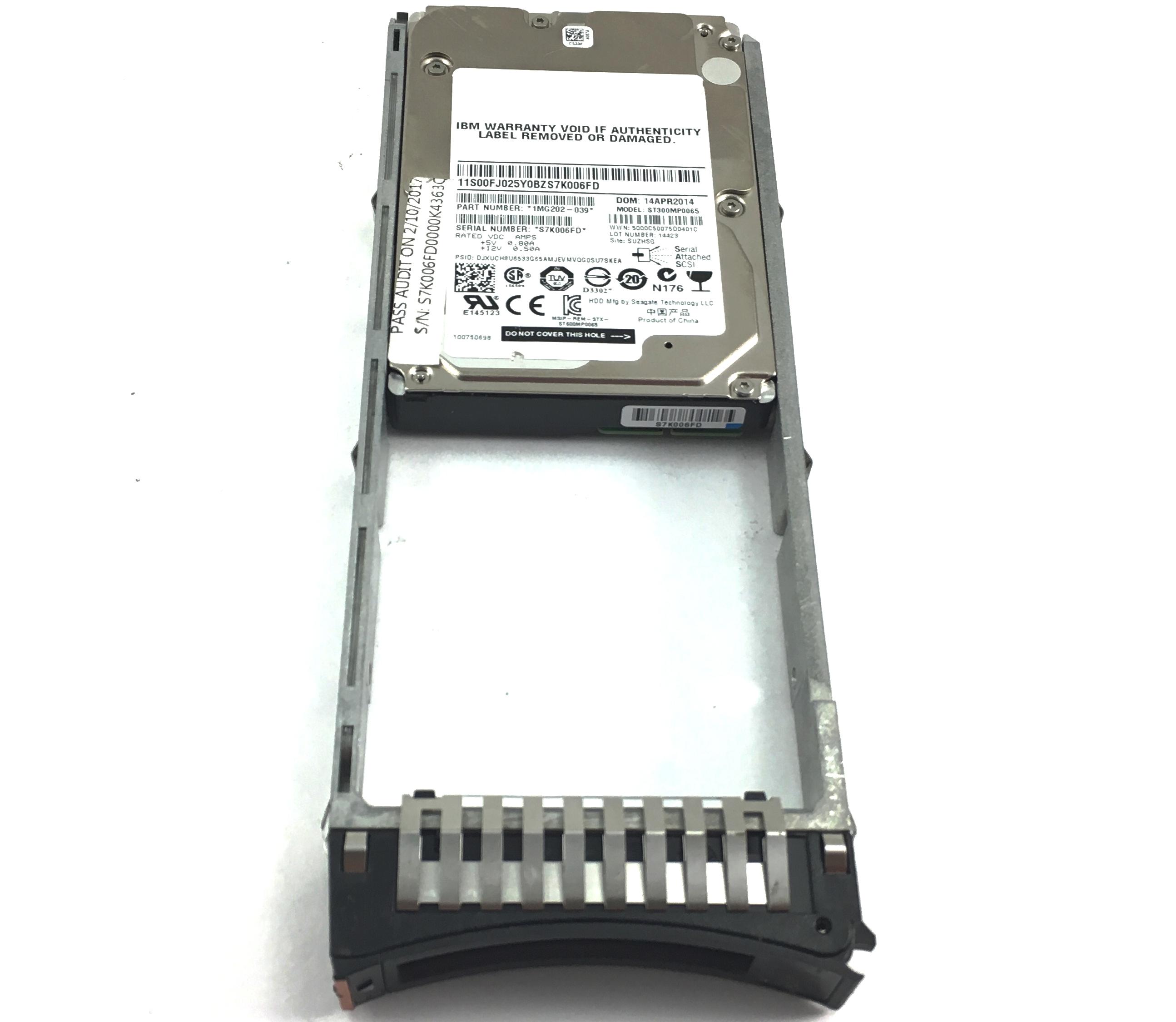 IBM 300GB 15K 12Gb/s SAS 2.5'' Hard Drive (00FJ025)