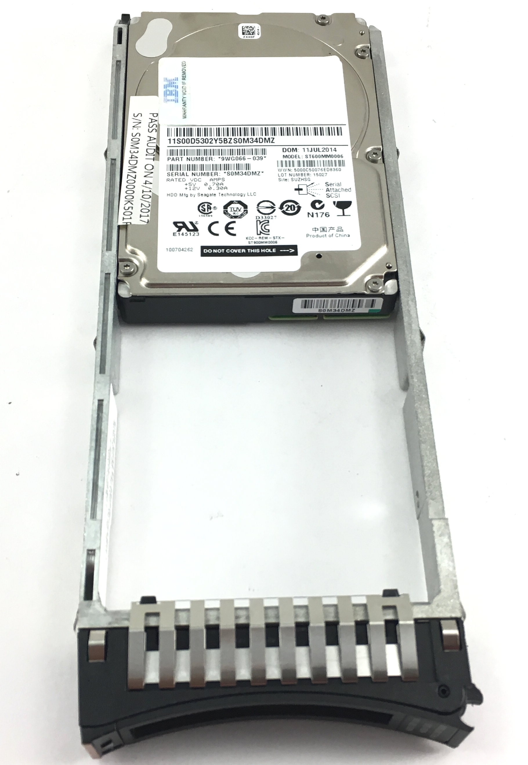 IBM 600GB 10K 6Gbps SAS 2.5'' Hard Drive (00Y5800)