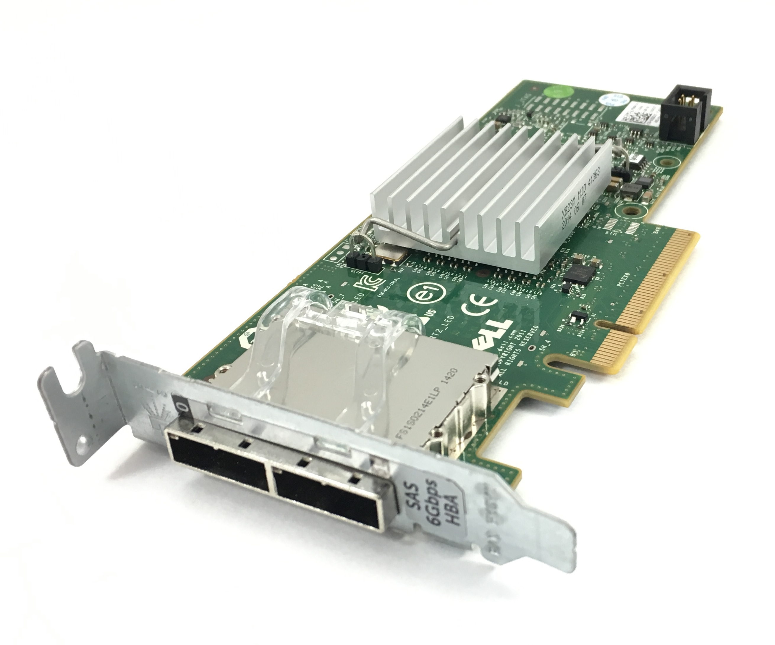 Dell 6Gbps PCI-E Dual Port SAS Low Profile Host Bus Adapter (3DDJT)