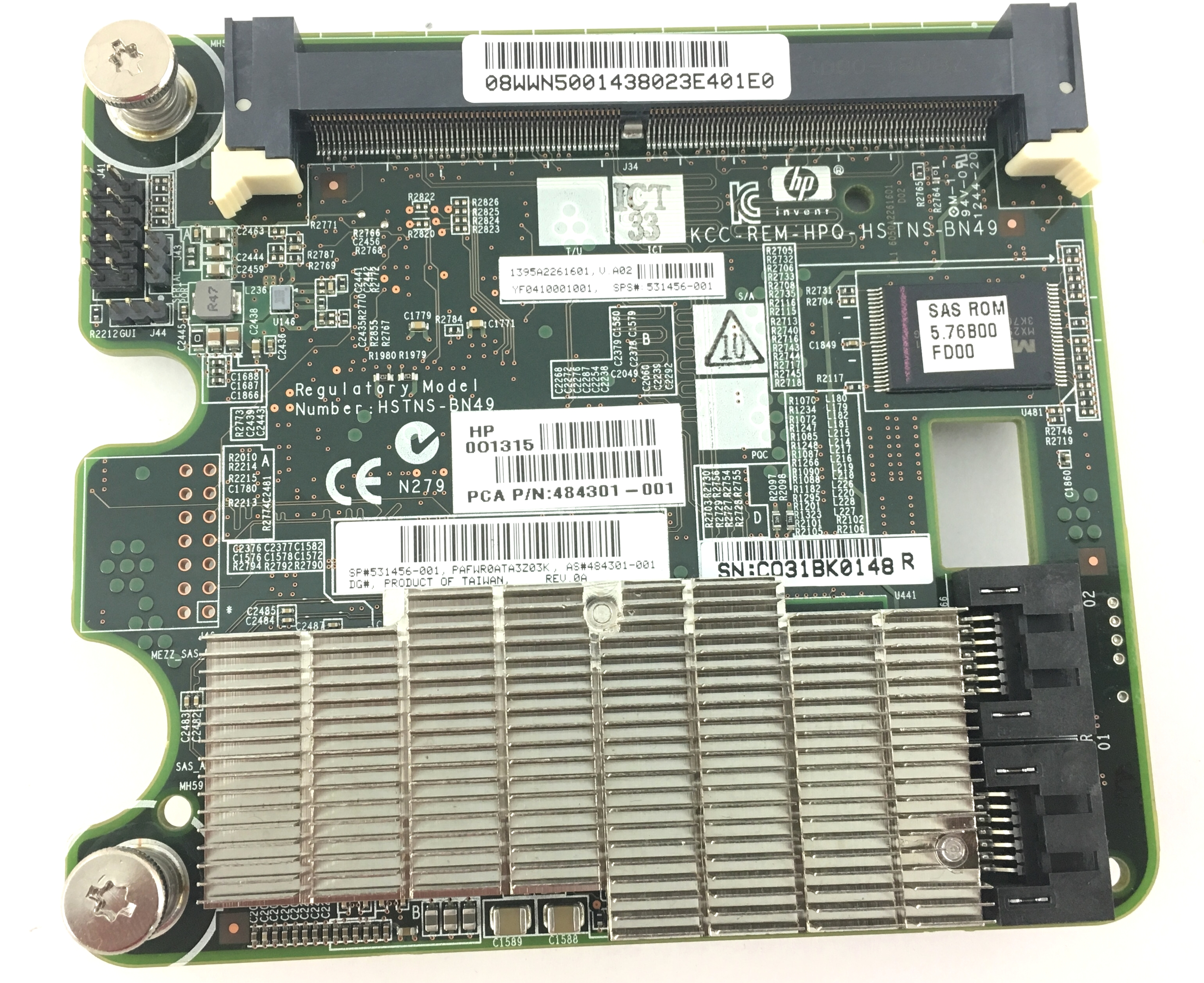 HP Smart Array P712M/Zm 6G Mezzanine Controller Card (531456-001)