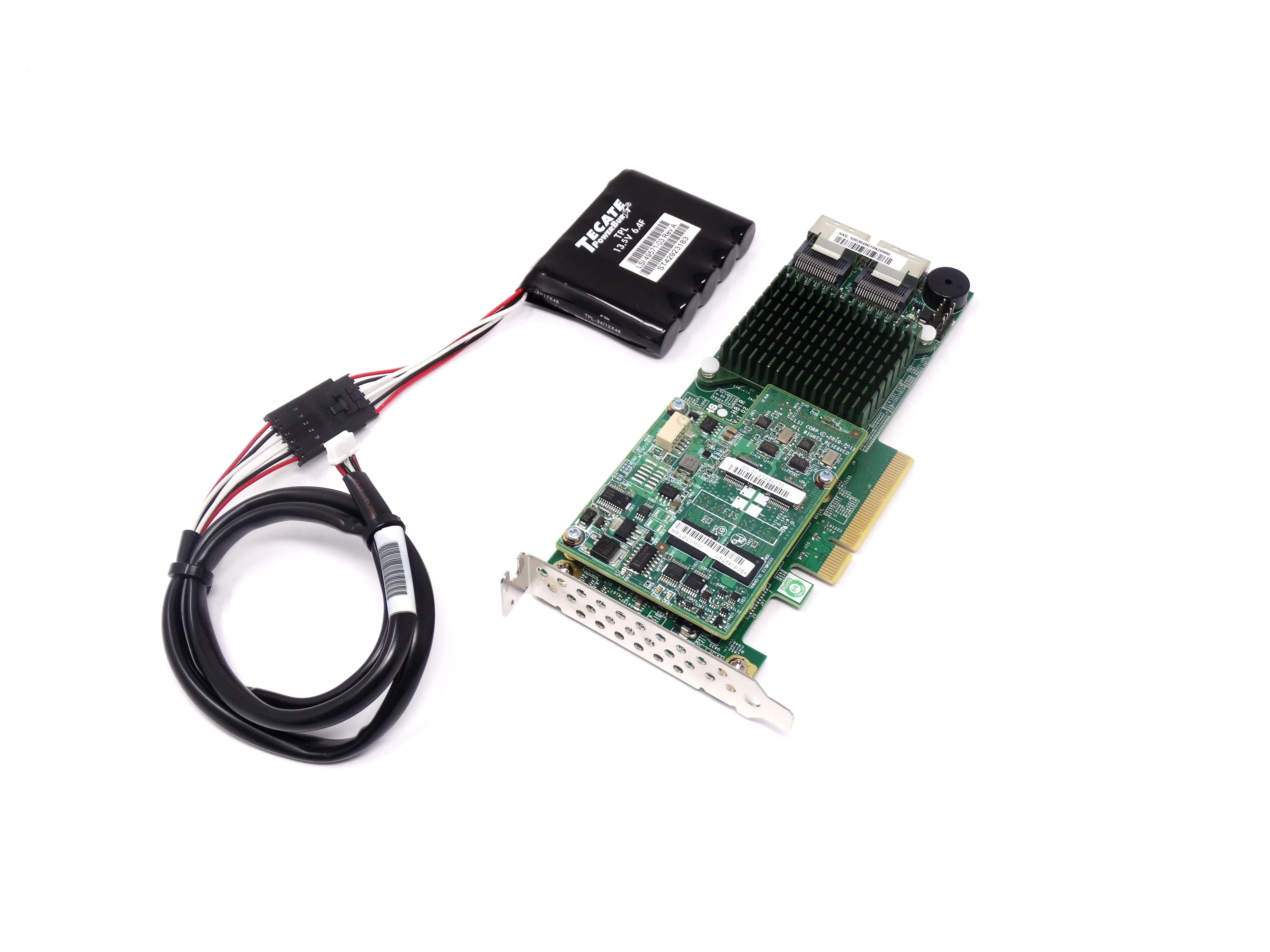 Supermicro 8 Port 6Gbps SAS SATA Raid Controller w/ CacheVault Kit LSICVM01 (AOC-S2208L-H8IR)