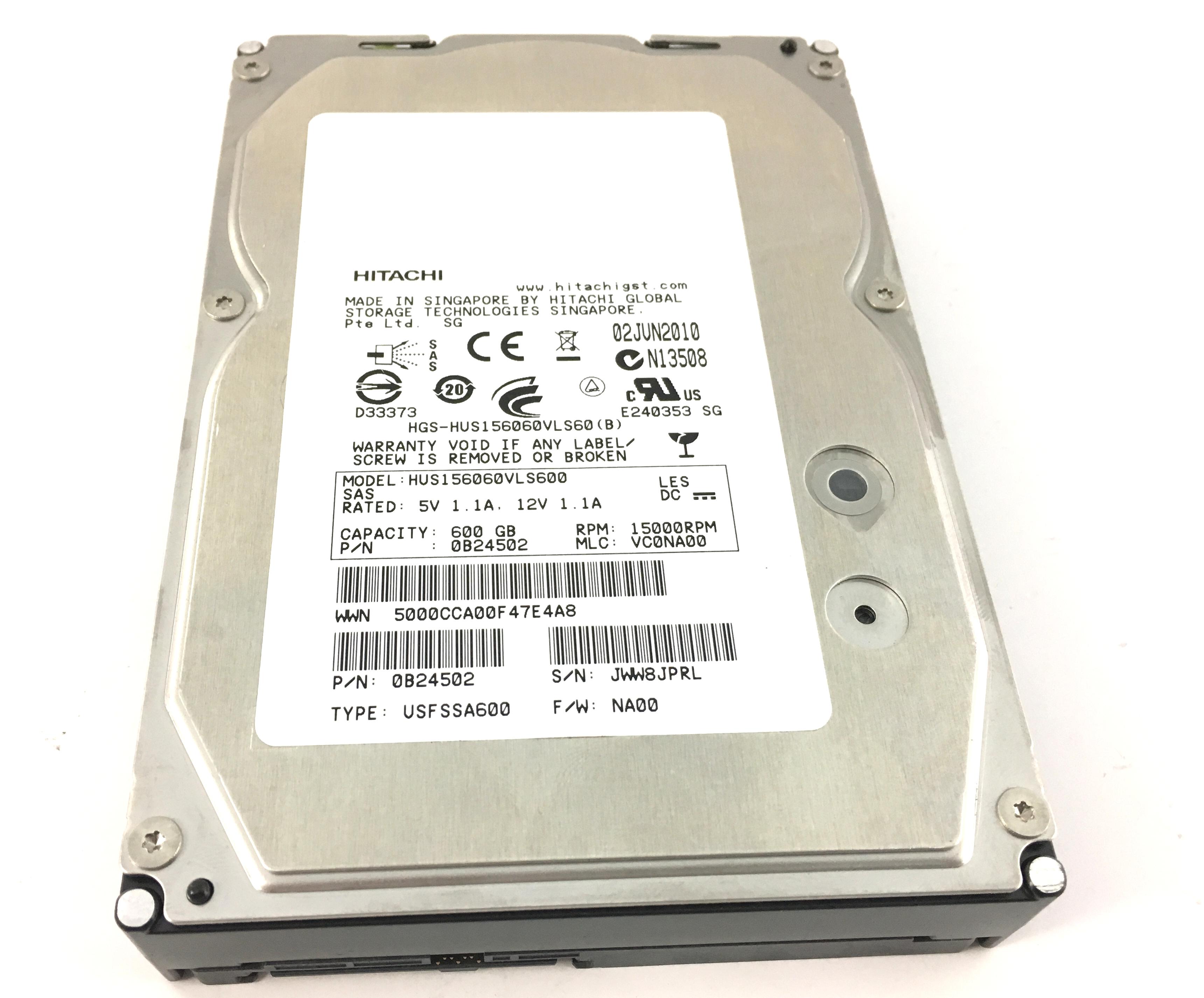 HITACHI 600GB 15K 6Gbps SAS 3.5'' HARD DRIVE NETAPP (HUS156060VLS600)