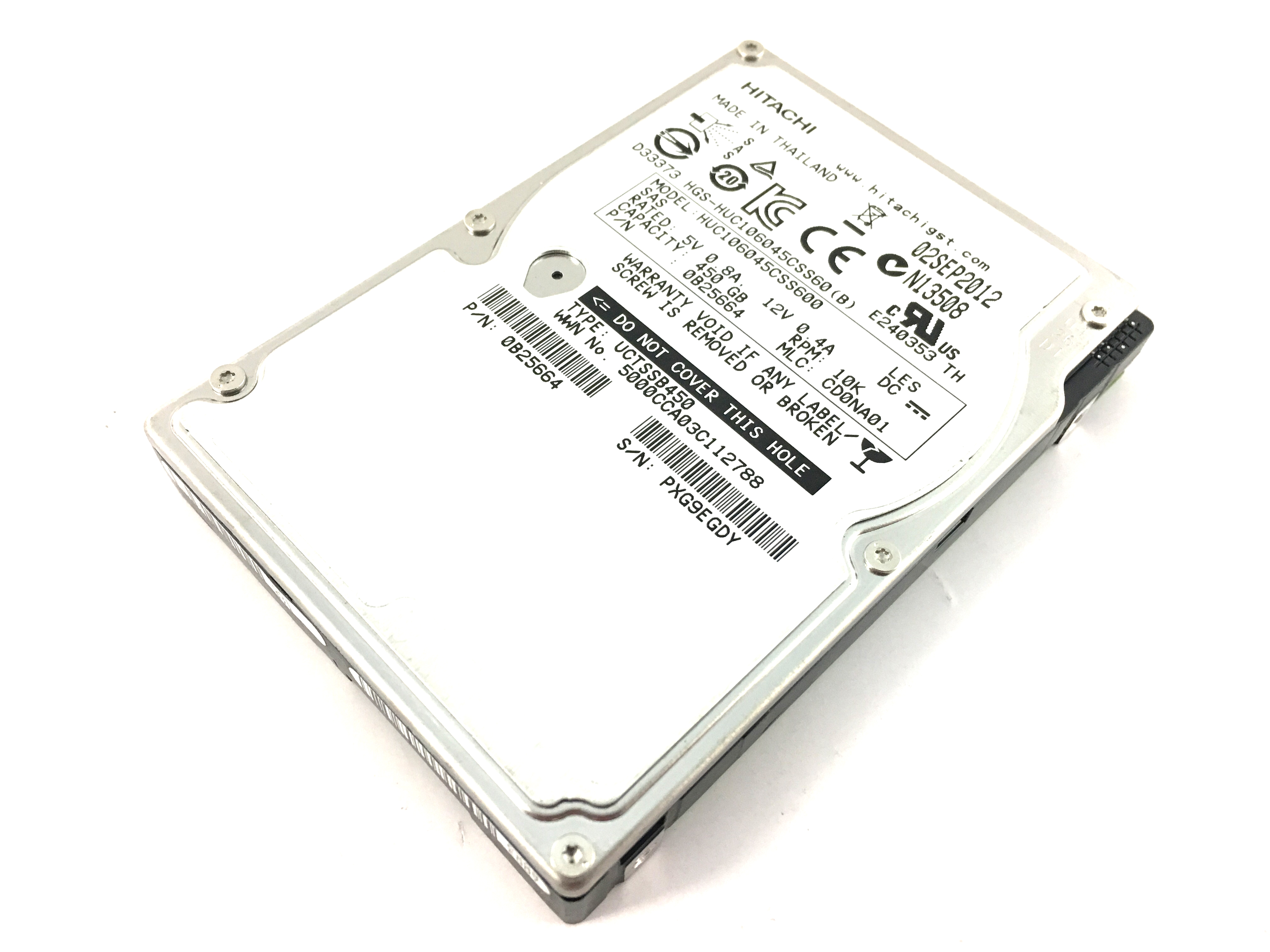 Hitachi UltraStar C10K600 450GB 10K 6Gbps SAS 2.5'' Hard Drive (HUC106045CSS600)