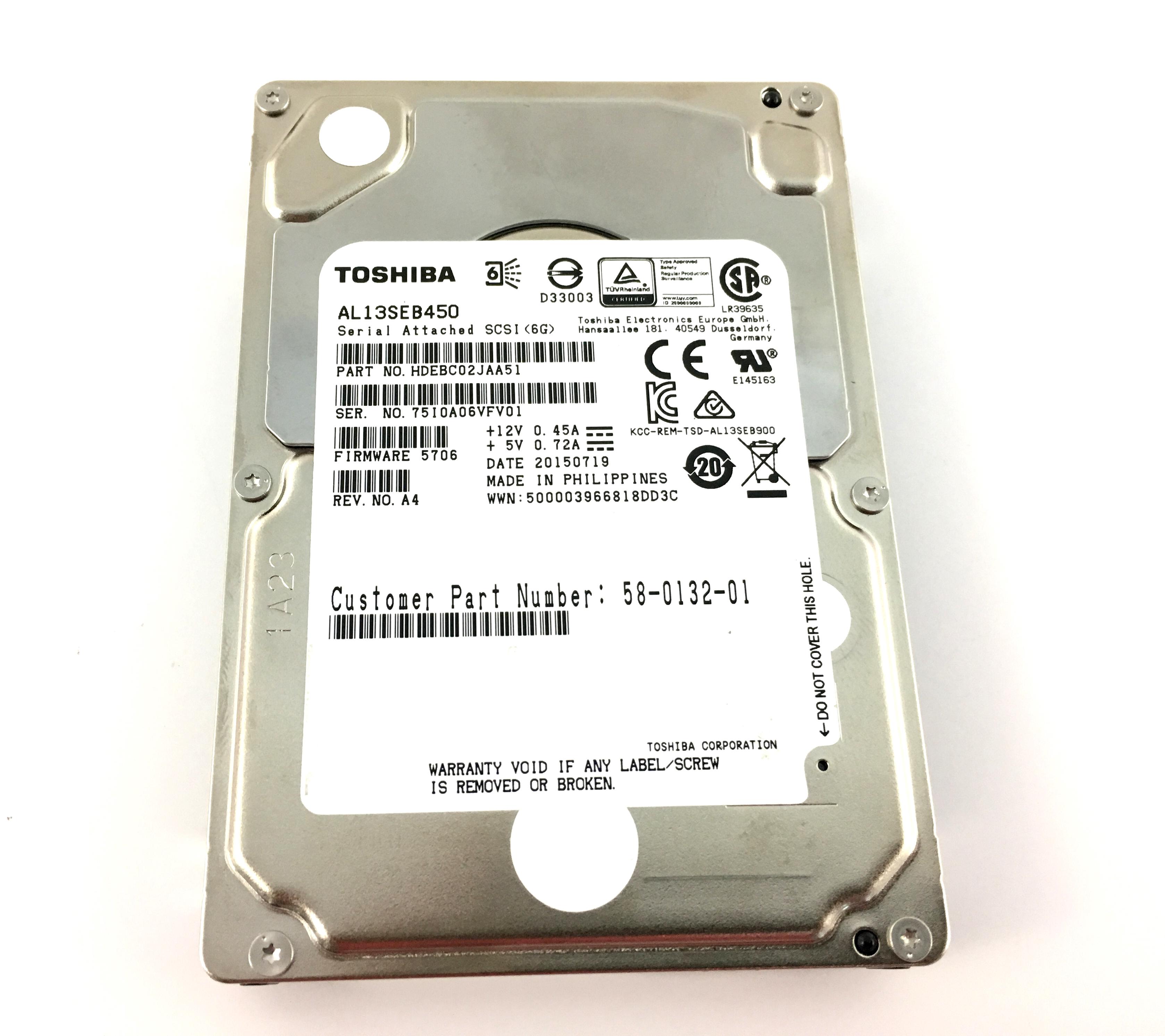 Toshiba 450GB 10K 6Gbps SAS 2.5'' Hard Drive (AL13SEB450)