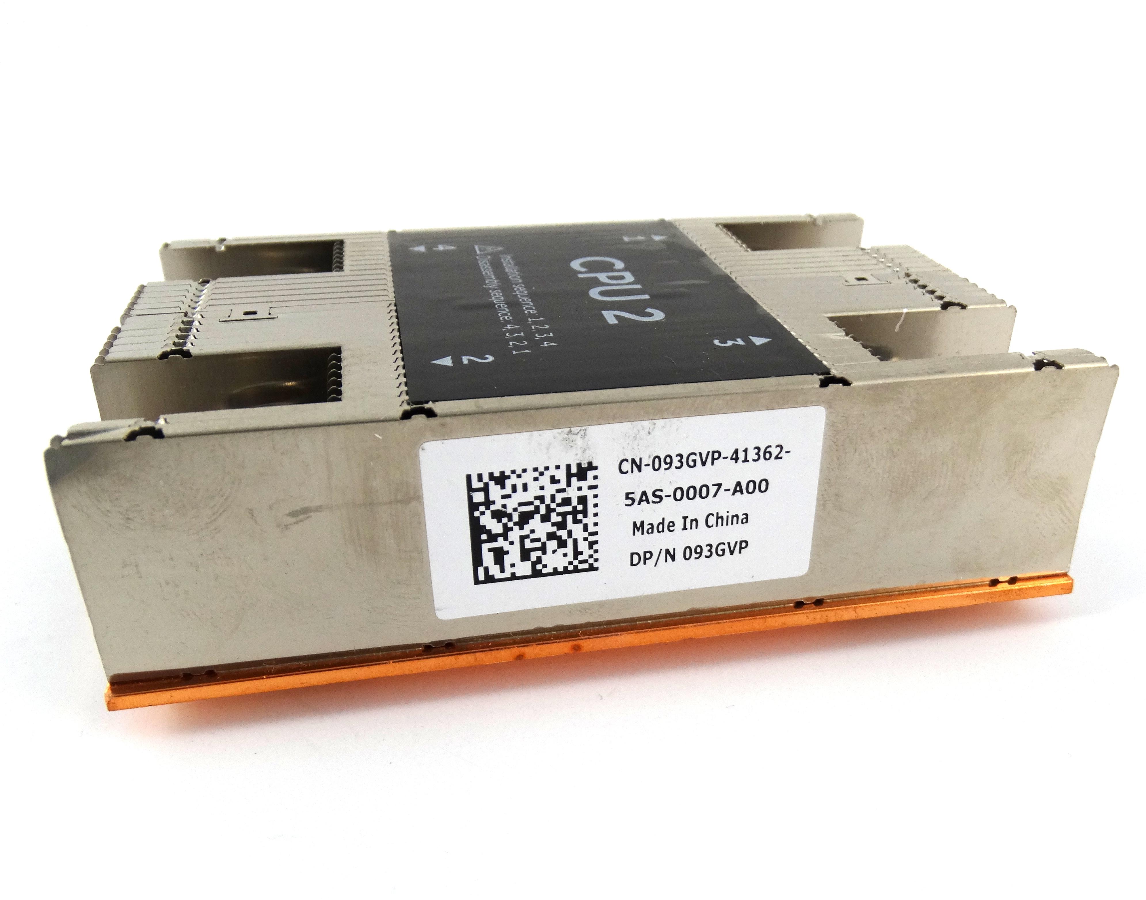 Dell Copper / Aluminium CPU2 Heatsink For PowerEdge M630 (93GVP)