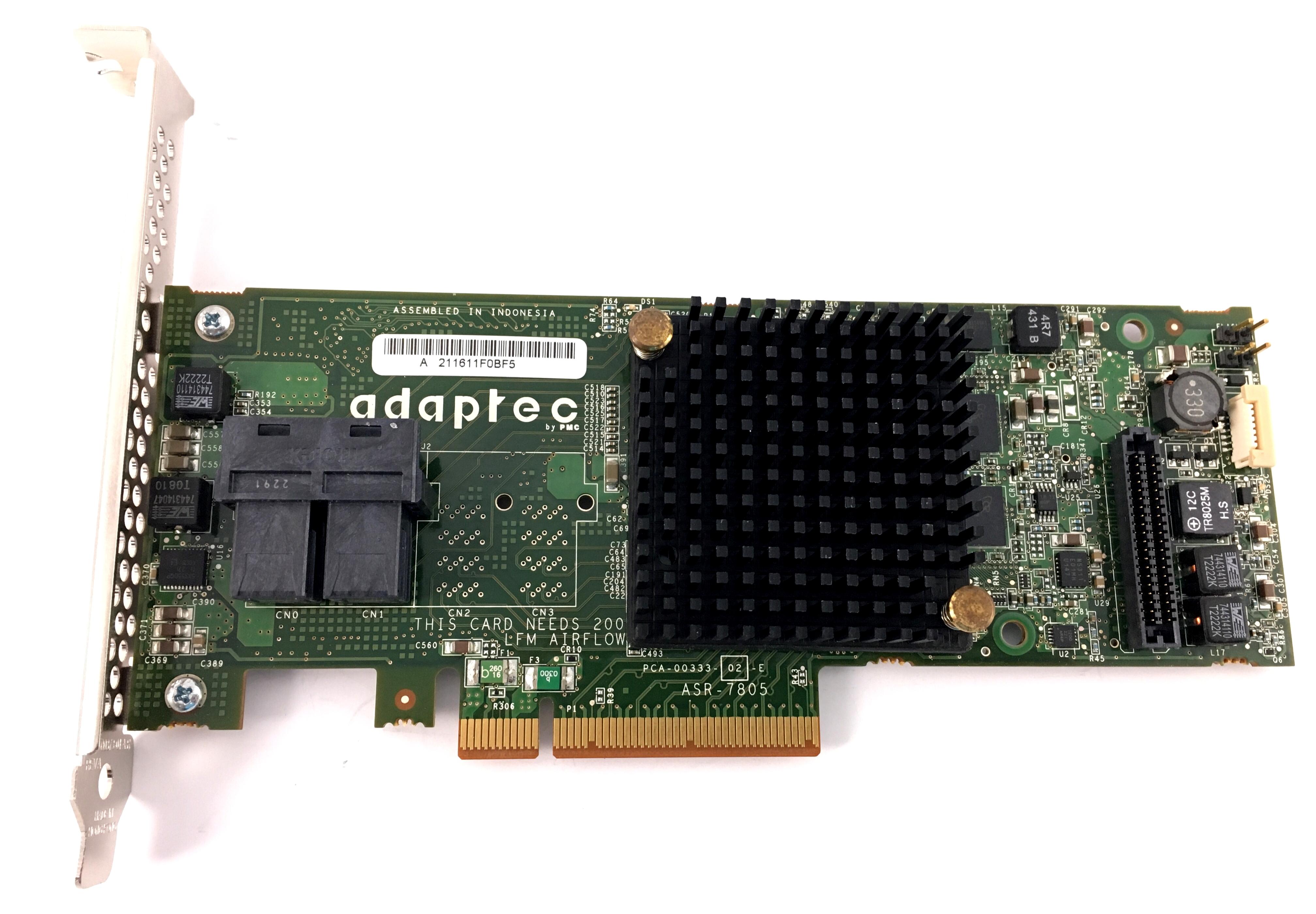 Adaptec 6Gbps SAS SATA 1GB PCIe Gen3 Raid Controller Card (ASR-7805)