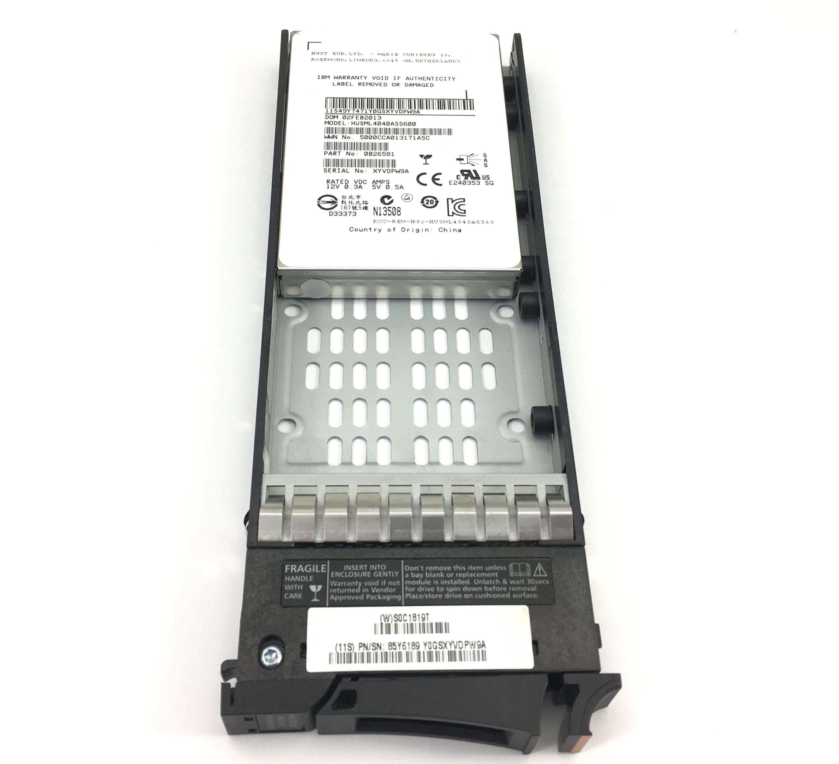 IBM HGST Storwize V7000 400GB 6Gbps SAS 2.5'' Solid State Drive (85Y6189)