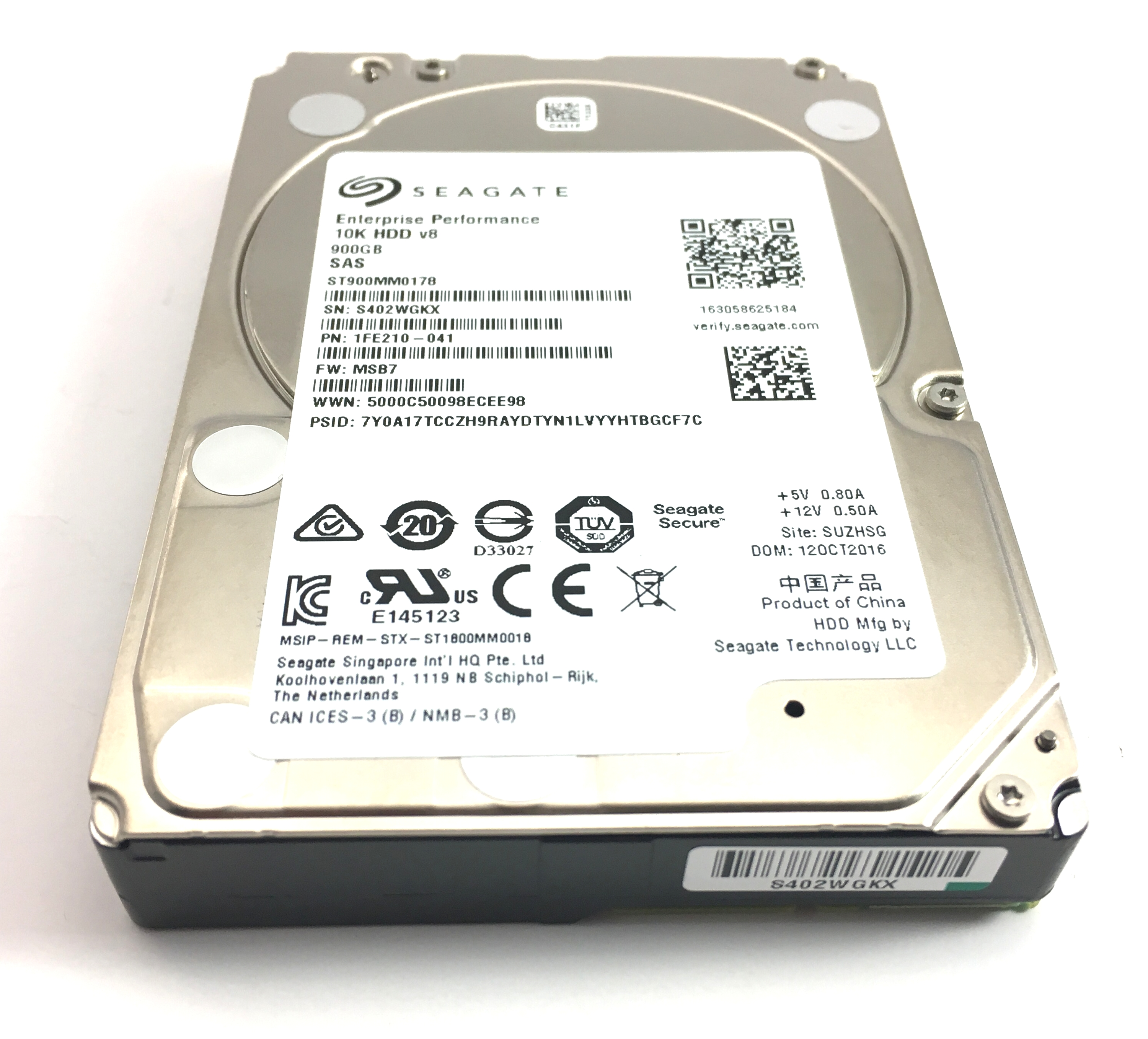 Seagate 900GB 10K 12Gbps SAS 2.5'' V8 Hard Drive (ST900MM0178)