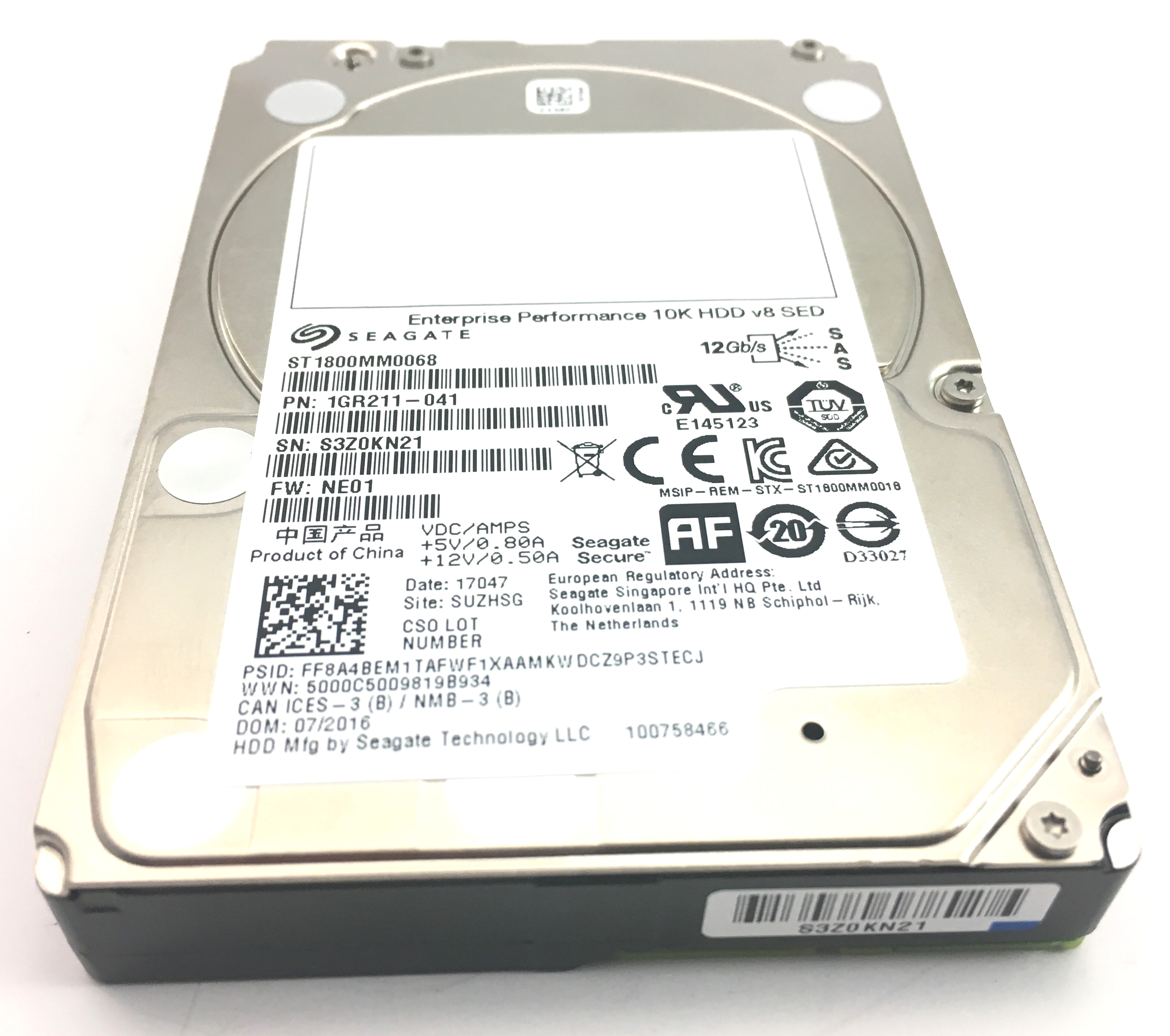 SEAGATE 1.8TB 10K 12GBPS SAS 2.5'' HDD HARD DRIVE (ST1800MM0068)
