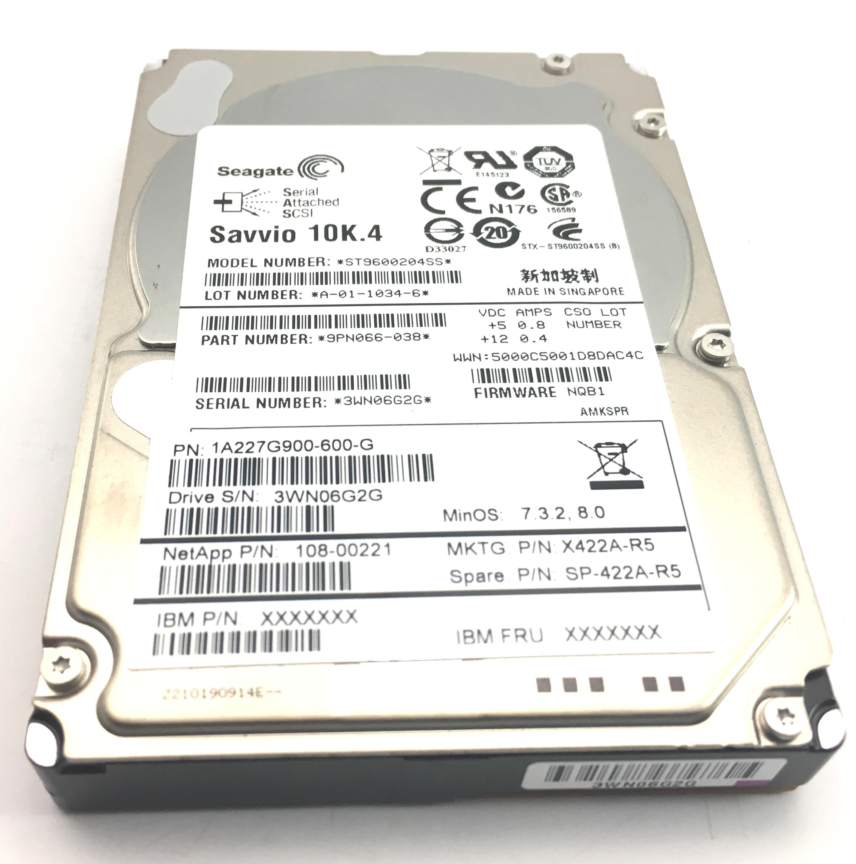 Netapp Seagate 600GB 10K SAS 2.5'' Hard Drive (SP-422A-R5)