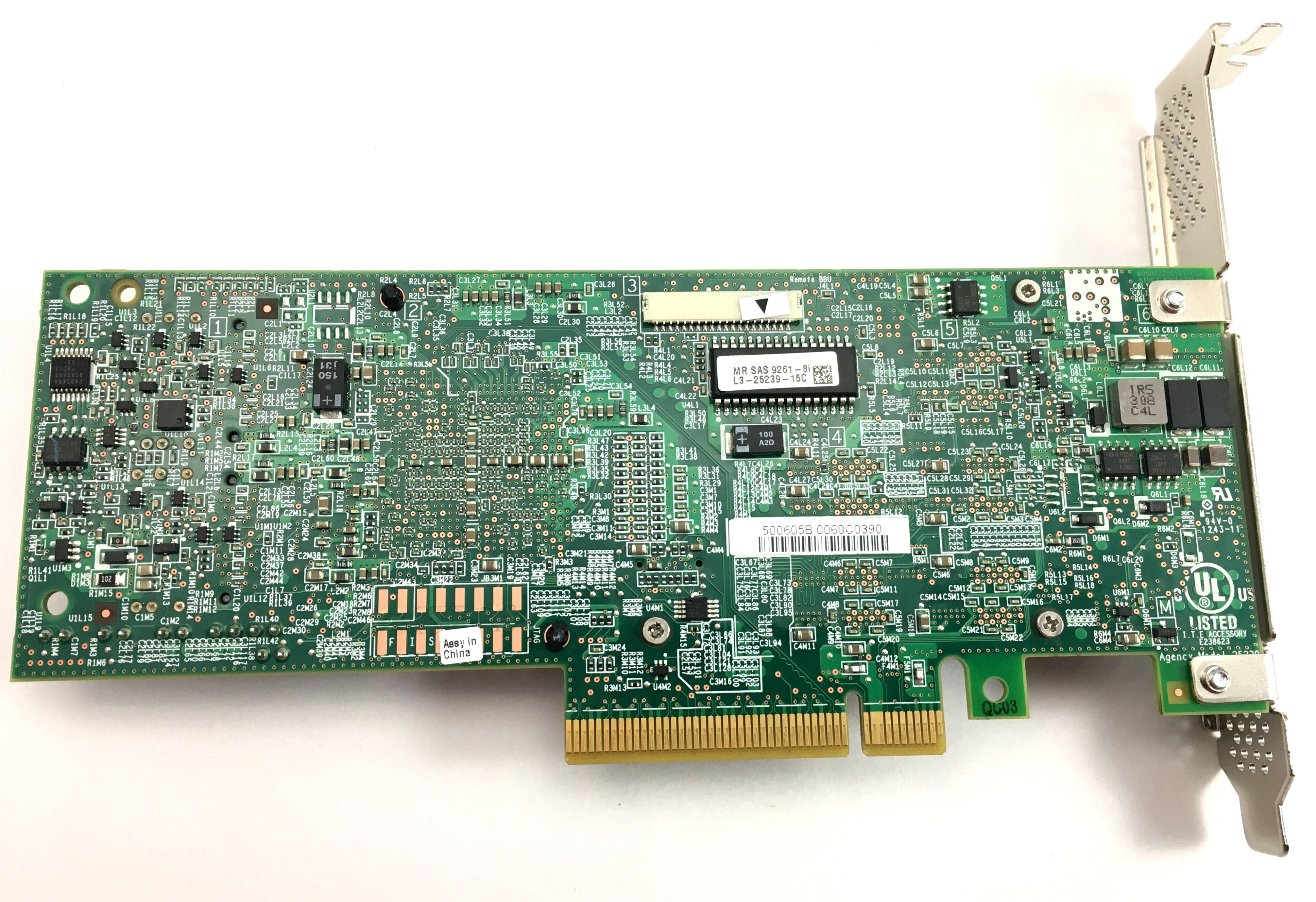 LSI MR SAS 9261-8I RAID CONTROLLER CARD (L3-25239-15C)