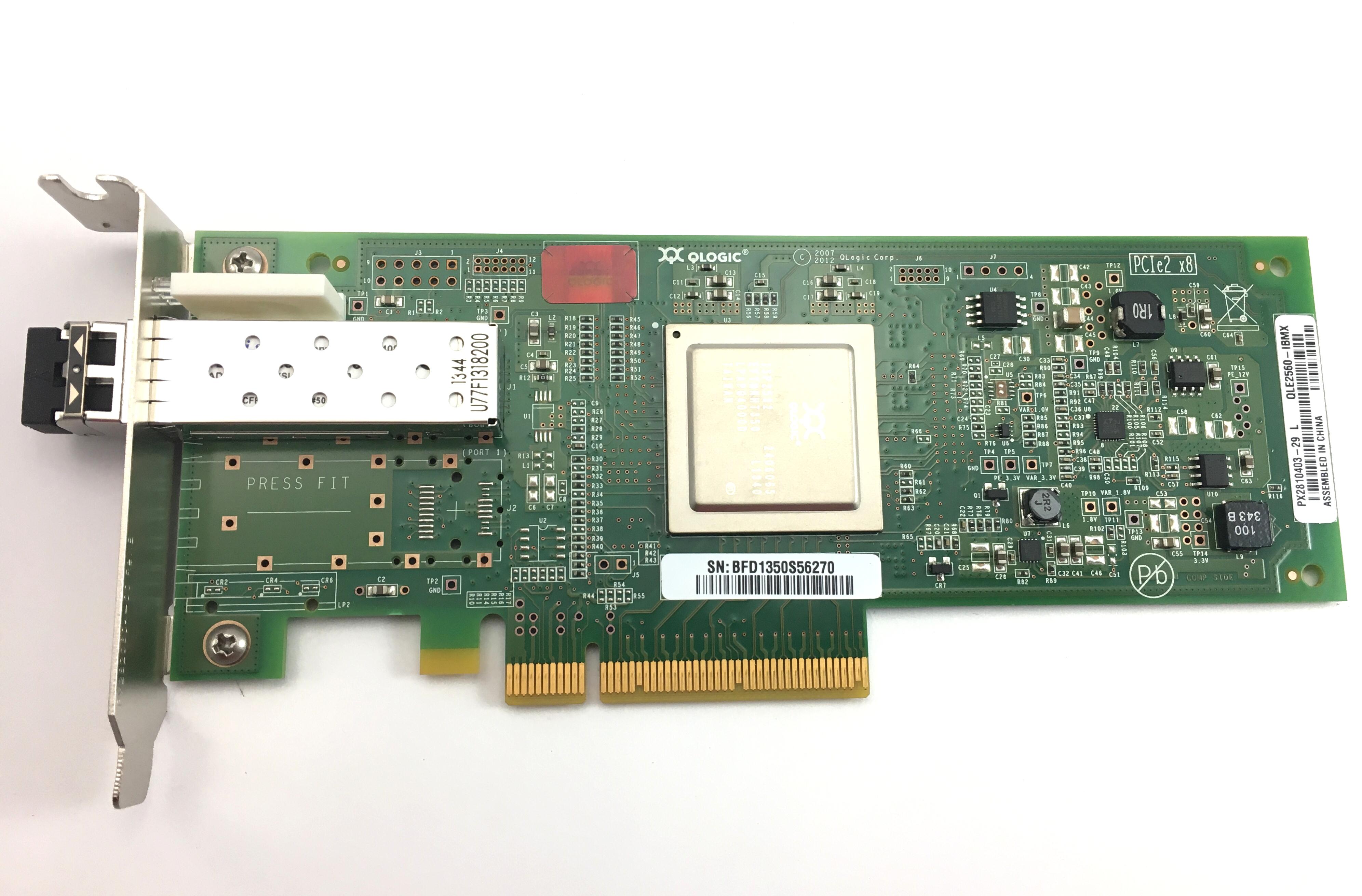 IBM Qlogic QLE2560 8GB PCI-E Single Port Fibre Channel Host Bus Adapter (00Y5628)