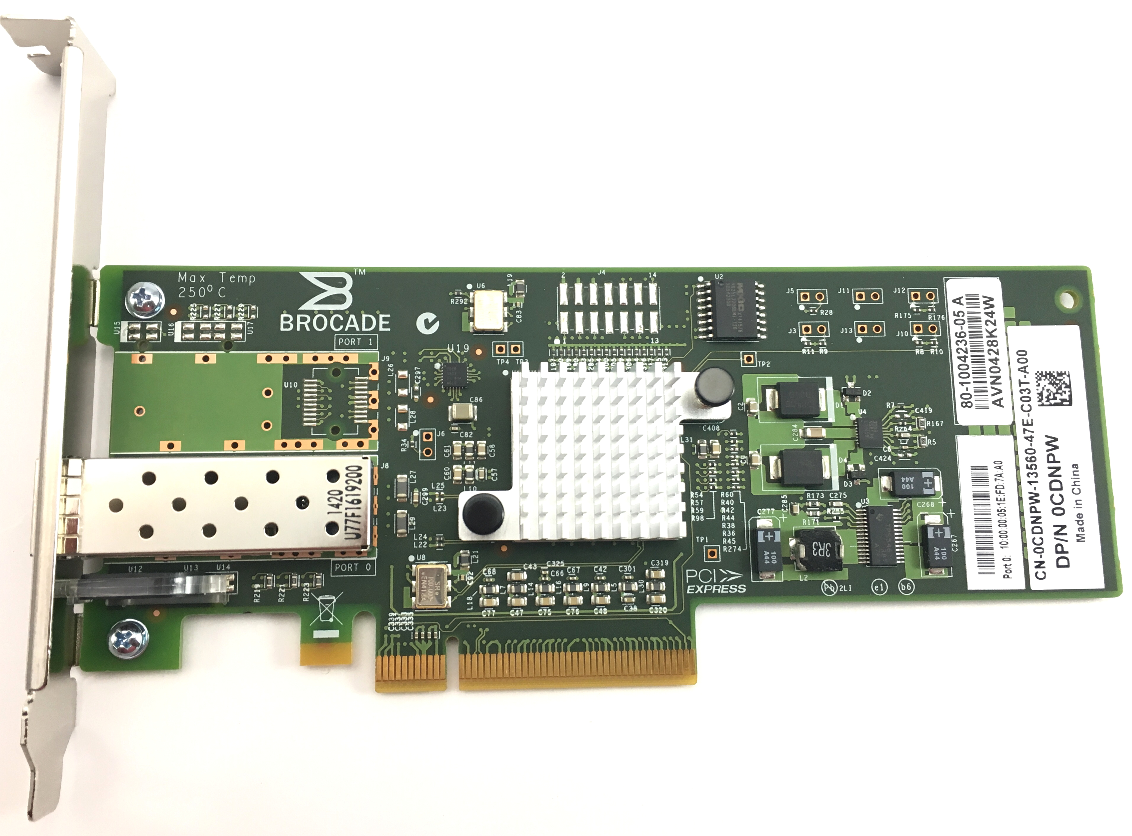 CDNPW Dell Brocade 815 8GB Single Port FC PCI-E Network Card (CDNPW)