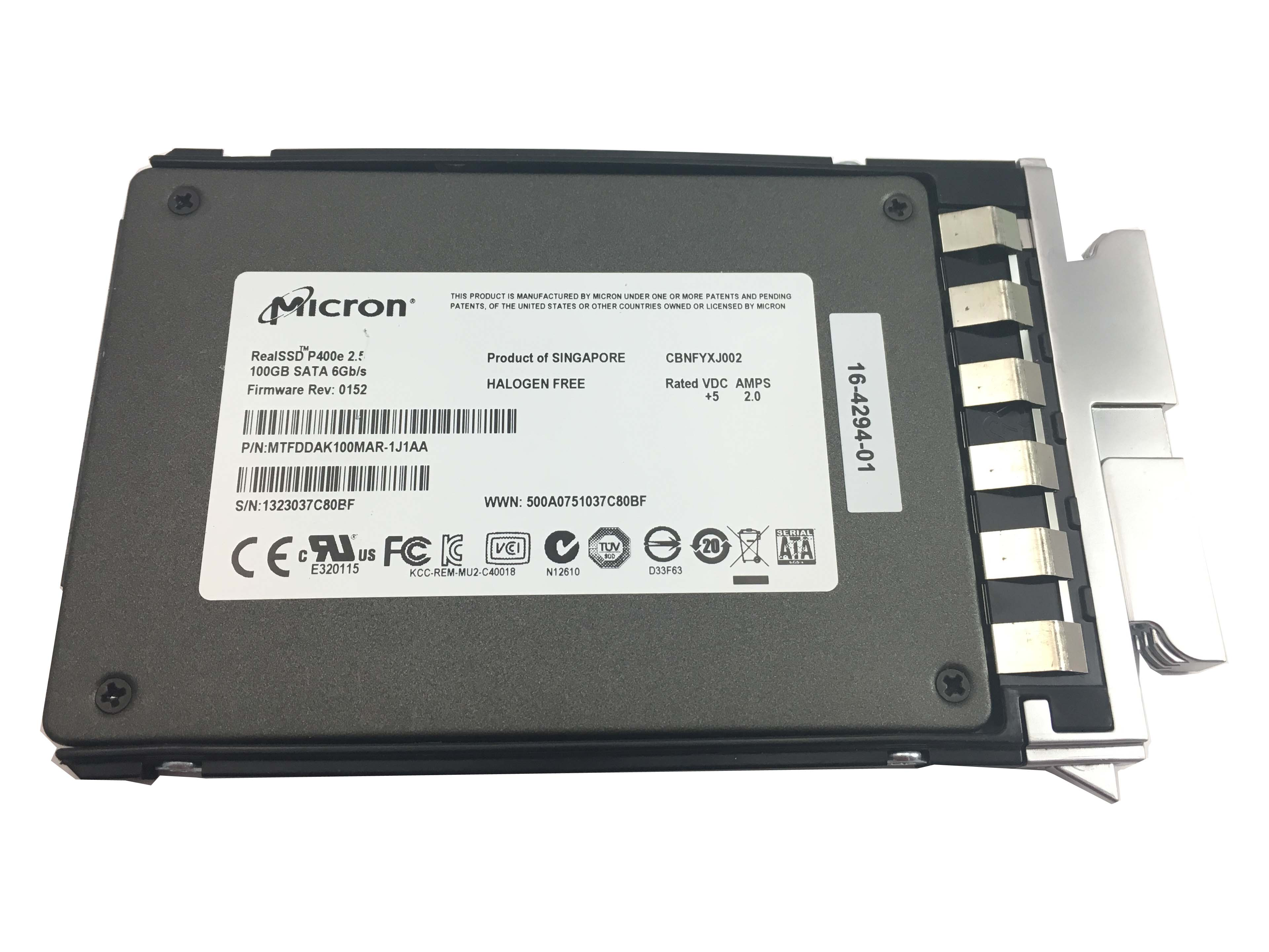 CISCO MICRON REAL SSD P400E 100GB 6GBPS SATA 2.5'' SOLID STATE DRIVE (UCS-SD100G0KA2-S)