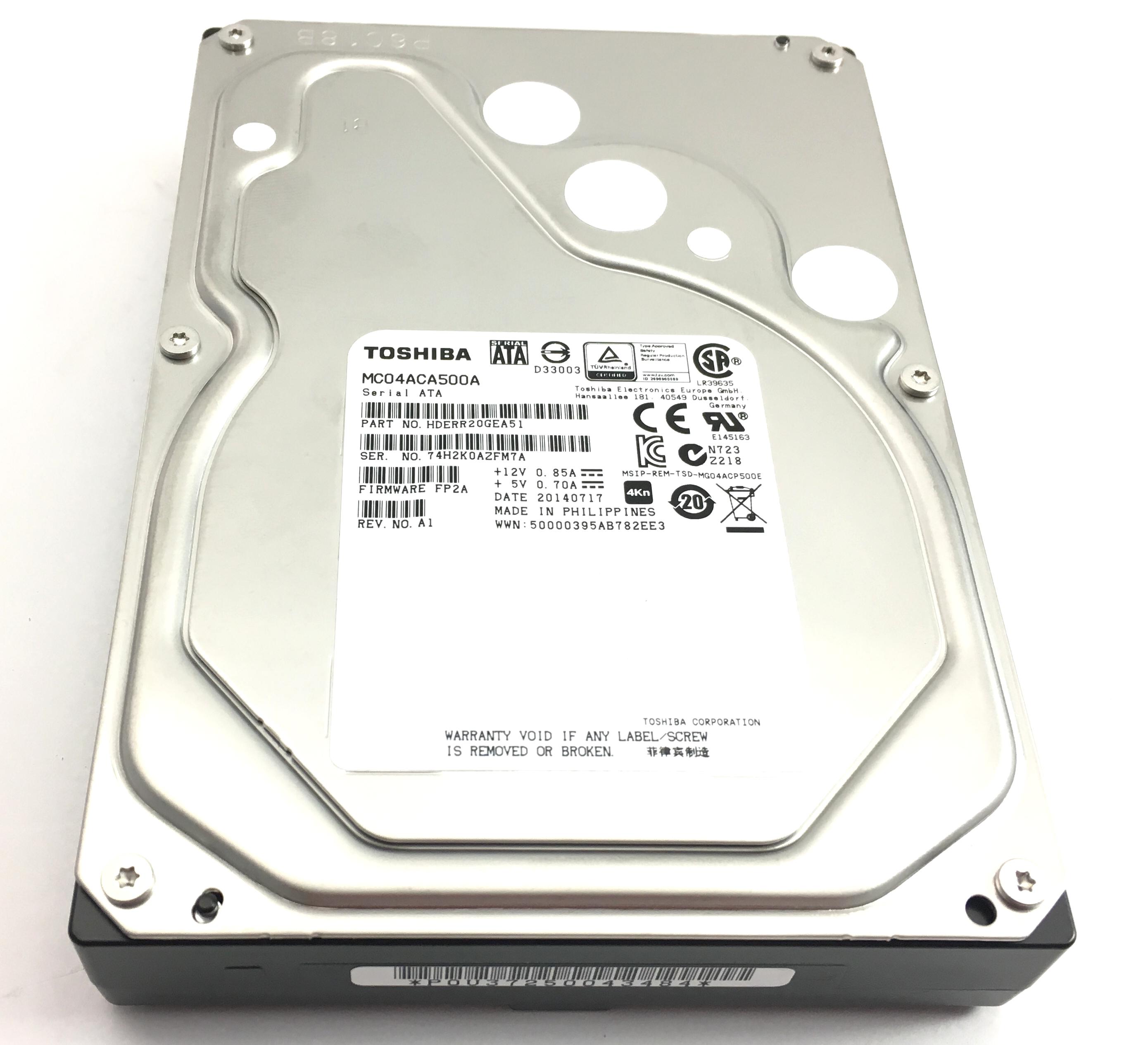 Toshiba 5Tb 7.2K 6Gbps SATA 3.5'' Hard Drive (MC04ACA500A)