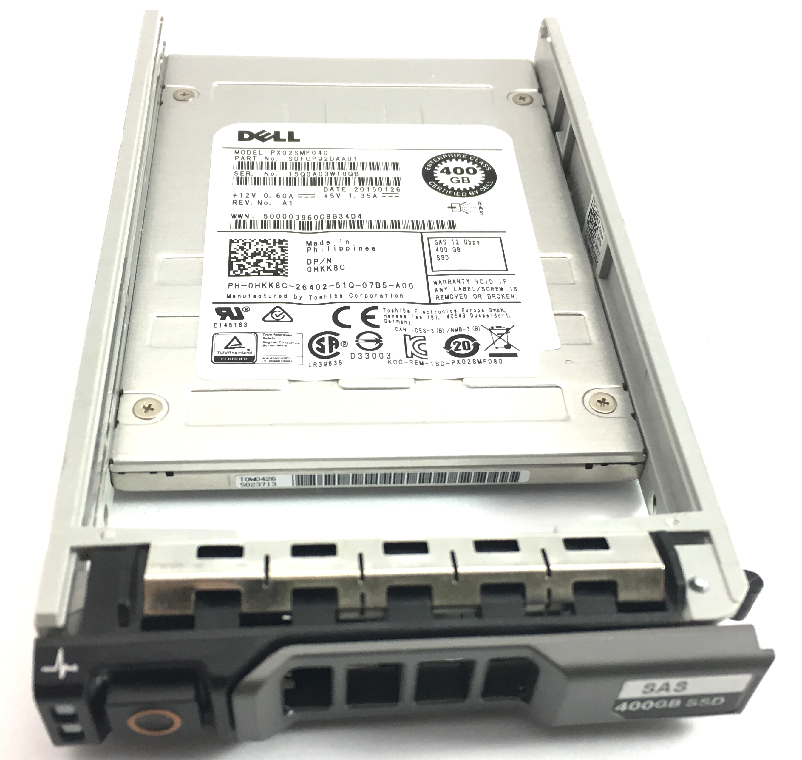 DELL 400GB 12GBPS SAS 2.5'' SOLID STATE DRIVE SSD (HKK8C)