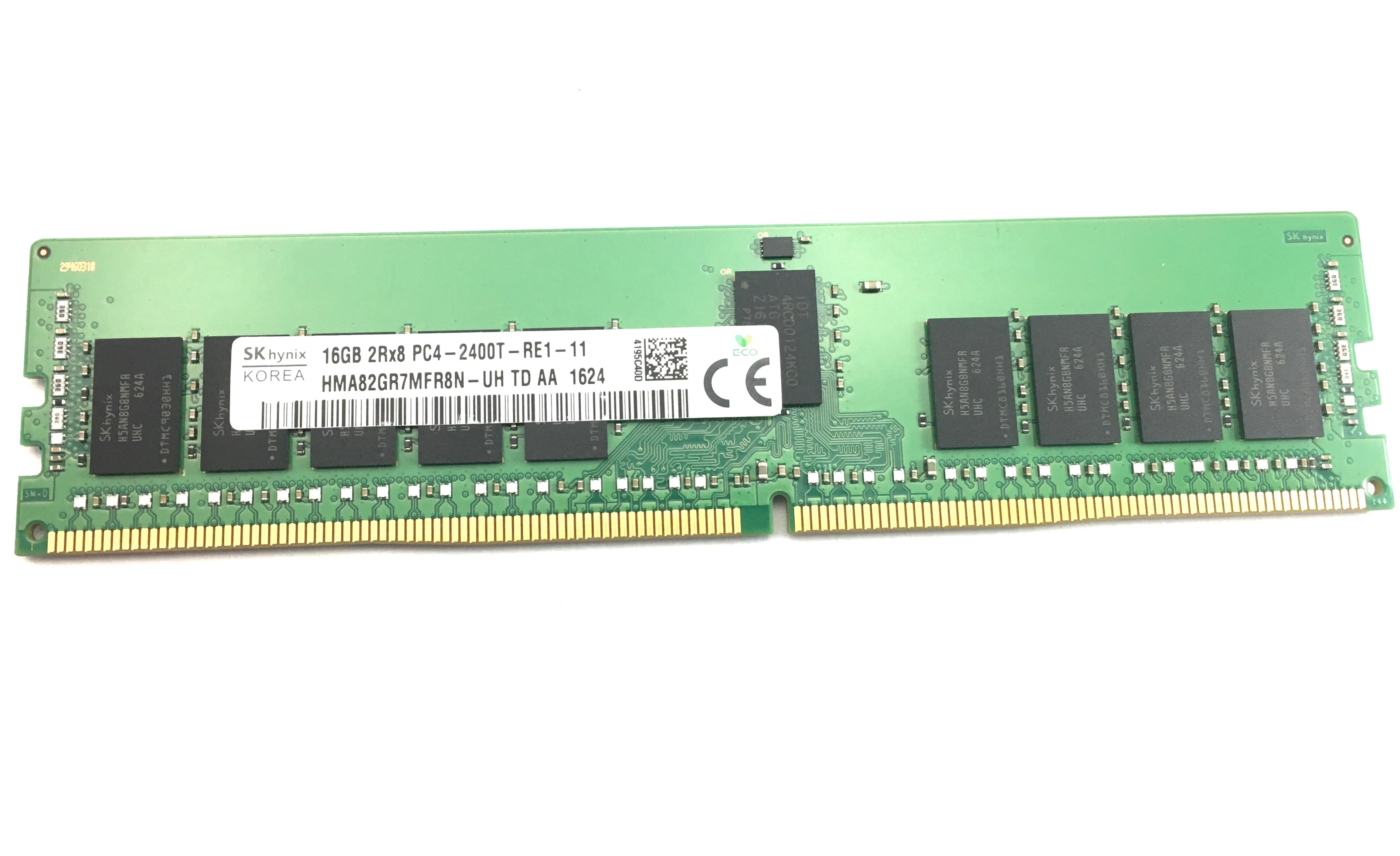 SKHynix 16GB 2Rx8 PC4-2400T DDR4 ECC Registered Memory (HMA82GR7MFR8N-UH)