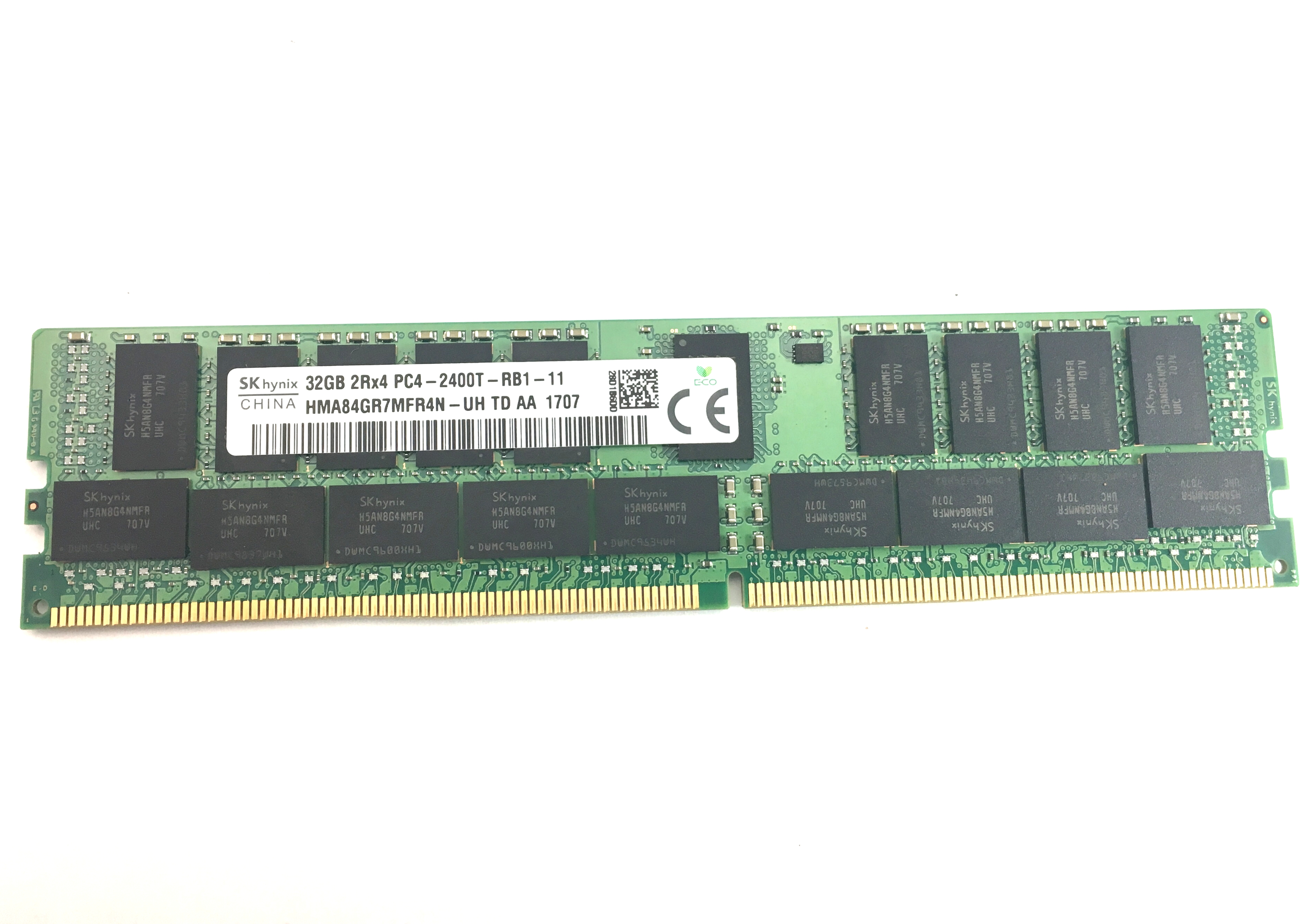 Hynix 32GB 2Rx4 PC4-2400T DDR4 -19200 ECC Registered Memory (HMA84GR7MFR4N-UH)