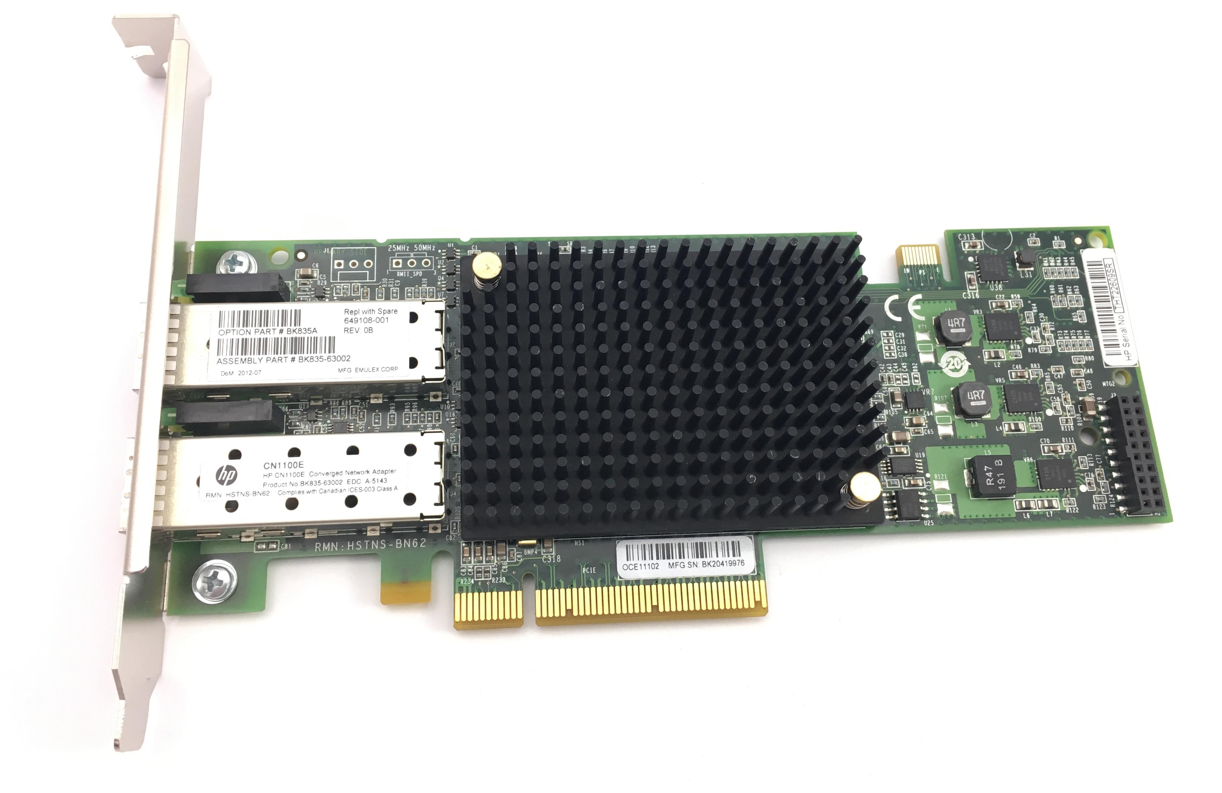 HP Cn110E Dual Port 10Gbps Converged Network Adapter (649108-001)