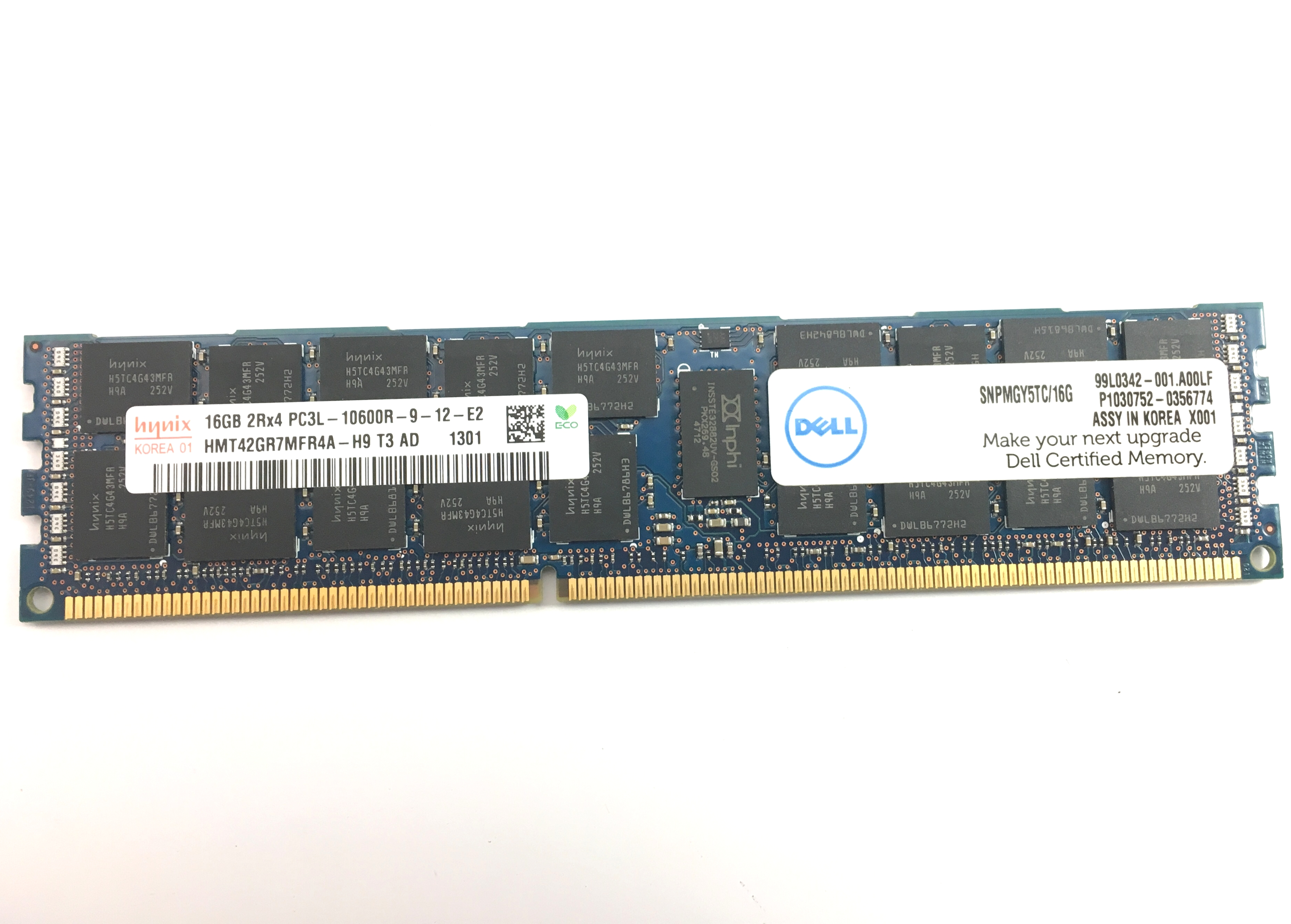Dell 16GB 2Rx4 PC3L - 10600R DDR3 1333 MHz ECC Registered Memory (SNPMGY5TC/16G)