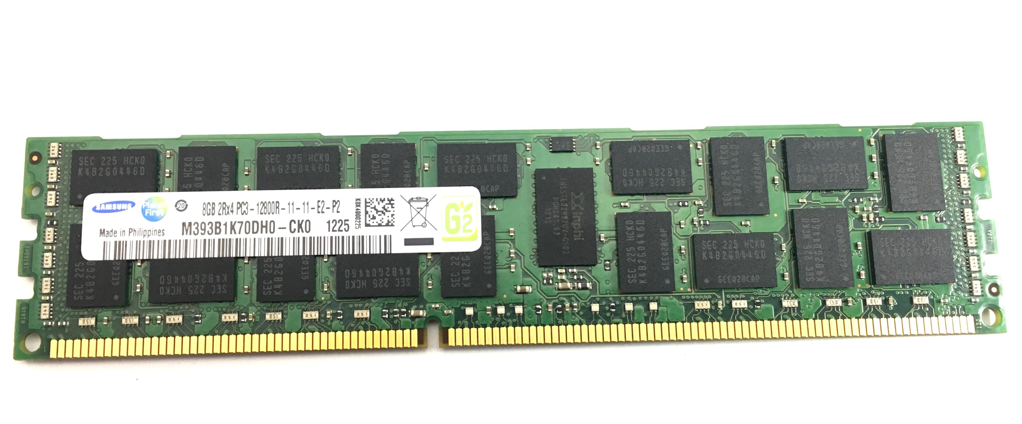 Samsung 8GB 2Rx4 PC3 12800R DDR3 ECC REG Memory (M393B1K70DH0-CK0)