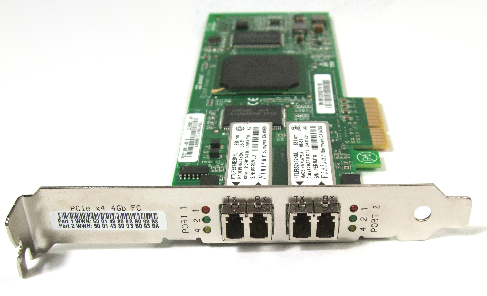 HP Qlogic 4GB Dual Port PCI-E Ae312A Fiber Channel HBA (407621-001)