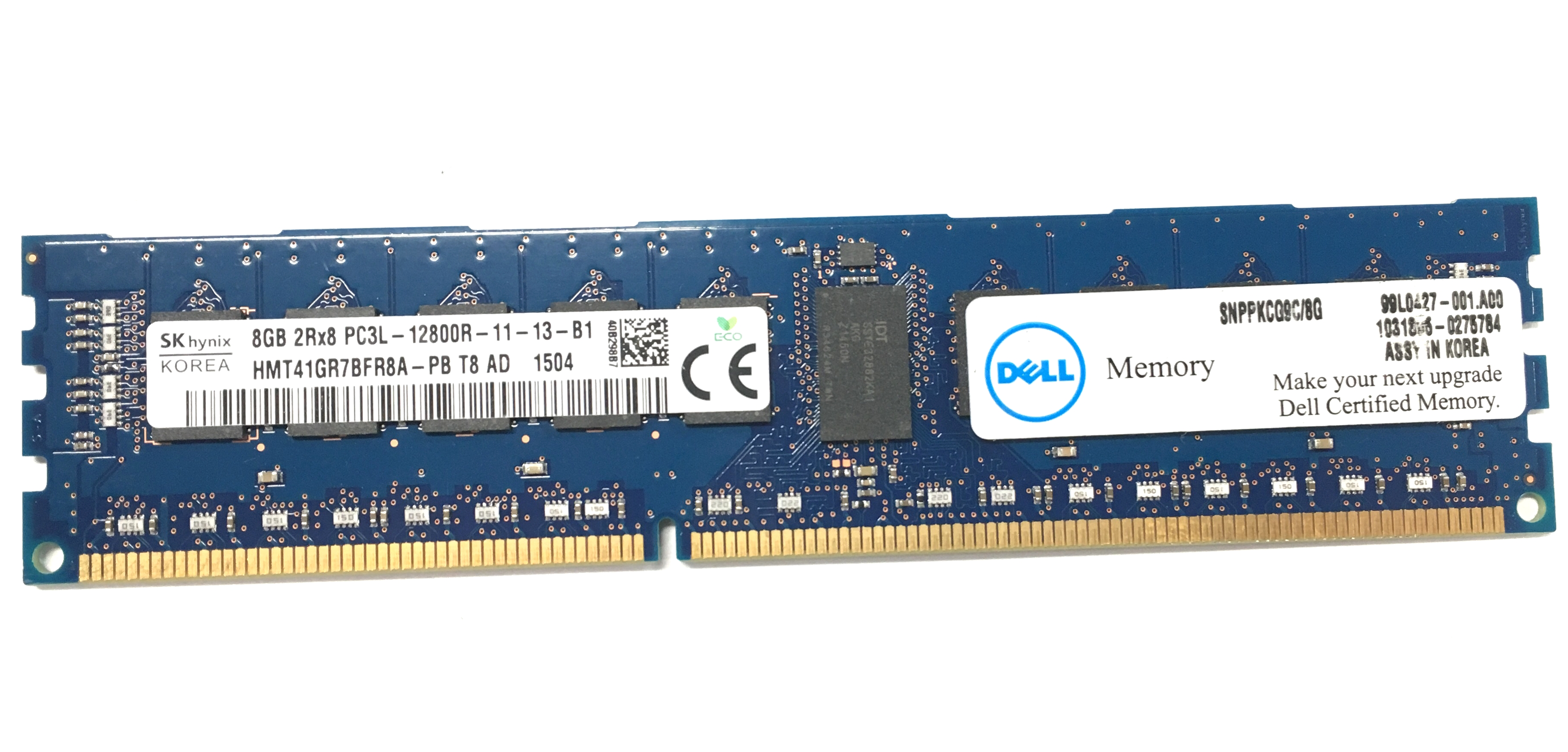 Dell 8GB 2Rx8 PC3L-12800R DDR3 1600MHz ECC REG Memory (SNPPKCG9C/8G)