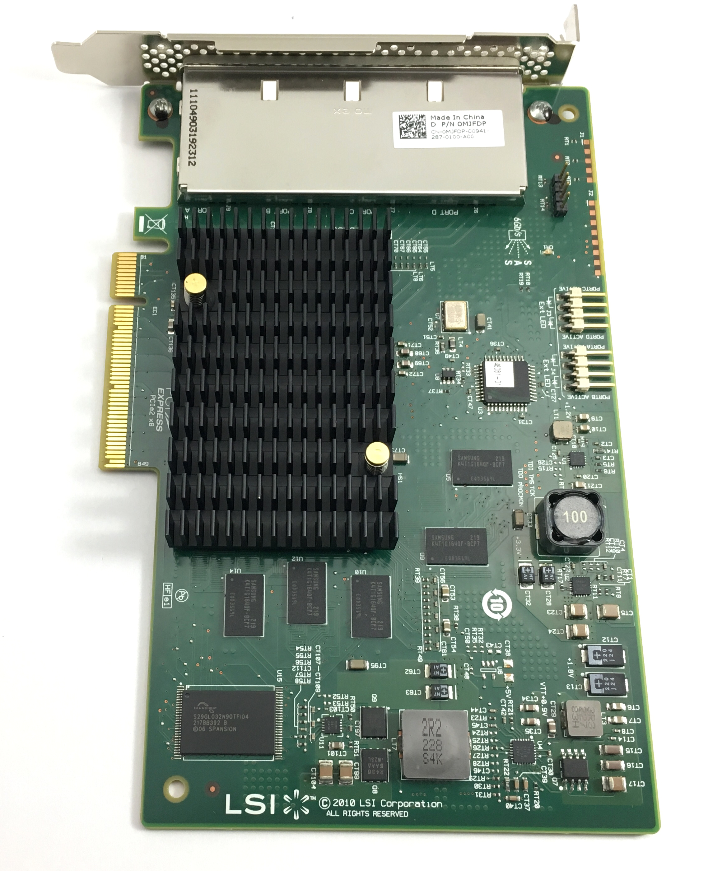MJFDP DELL LSI SAS 9201-16E PCI-E 6GB/S SAS HOST BUS ADAPTER (MJFDP)