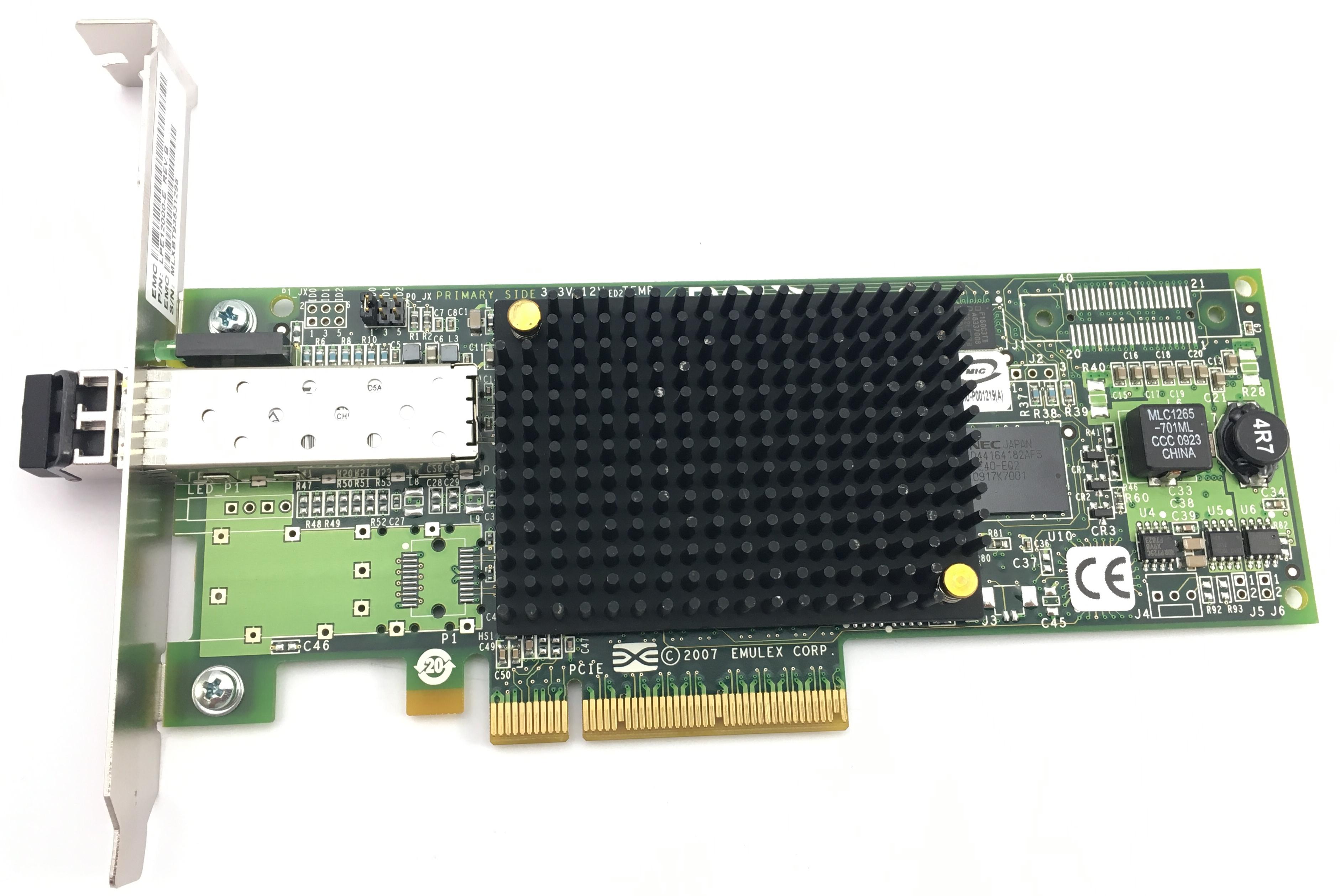 DELL EMULEX LPE12000 8GB PCI-E FC HBA W/ TRANSCEIVER (LPE12000-E)