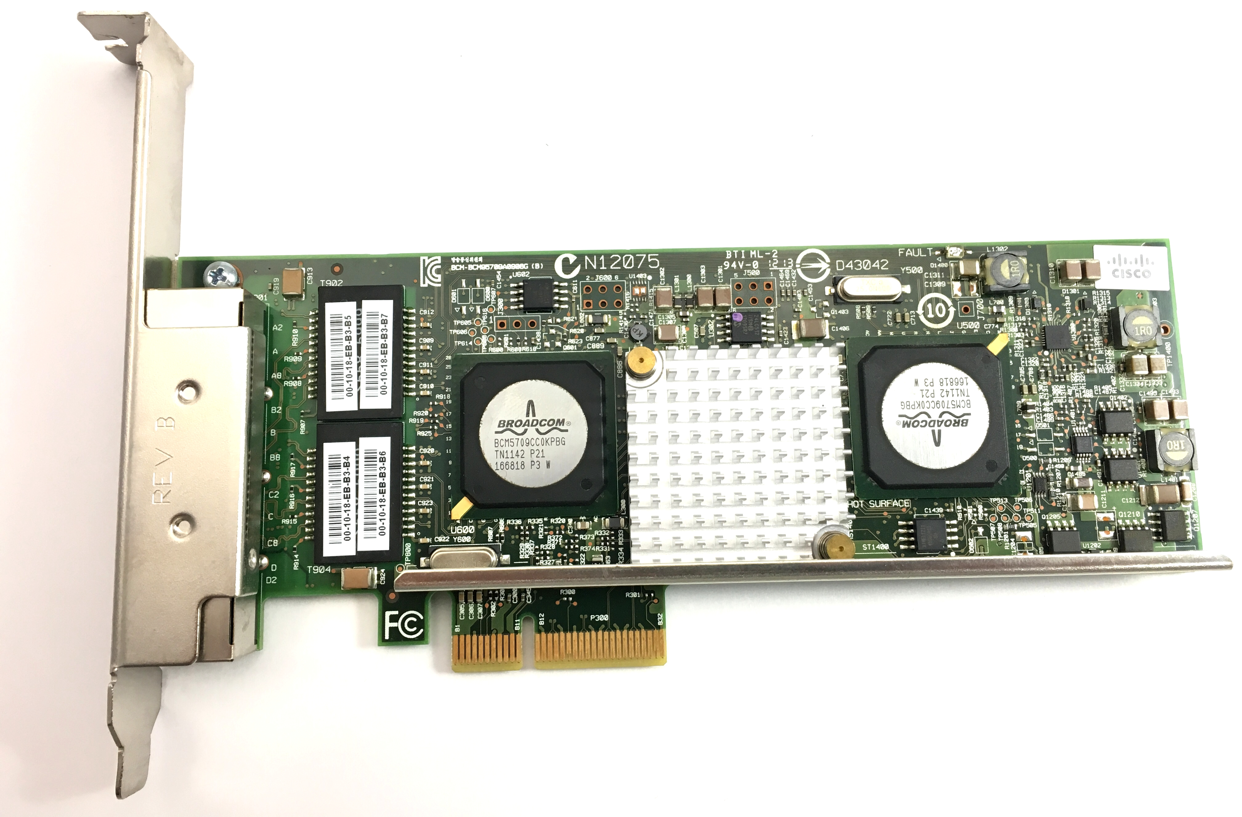 Cisco Broadcom Netxtreme II 5709 Quad-Port Ethernet PCI-E Adapter Card (N2XX-ABPCI03-M3)
