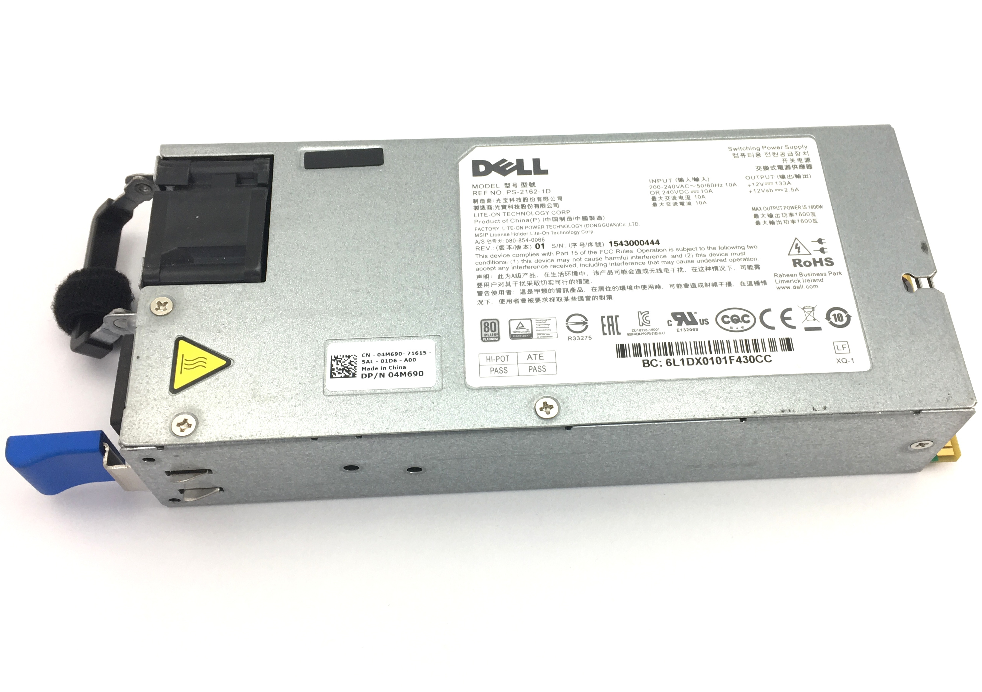 Dell 1600W Switching Power Supply (4M690)