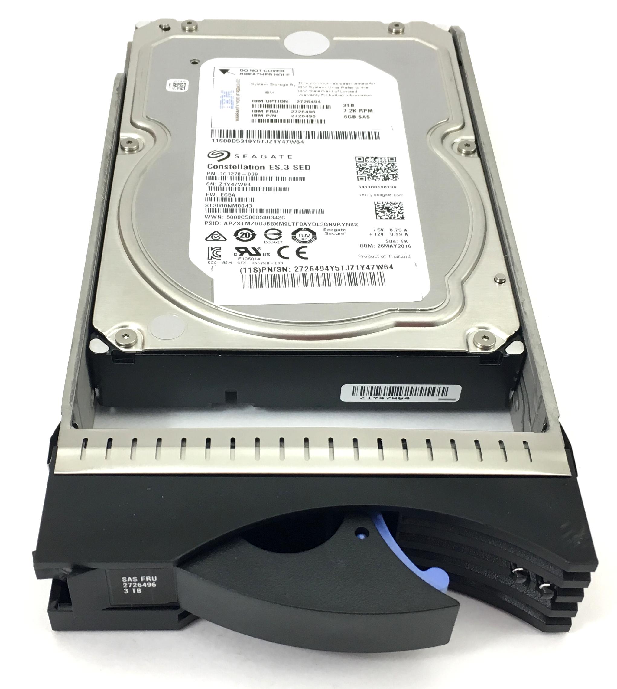 IBM 3Tb 7.2K 6Gbps SAS 3.5'' Sed Hard Drive (2726496)