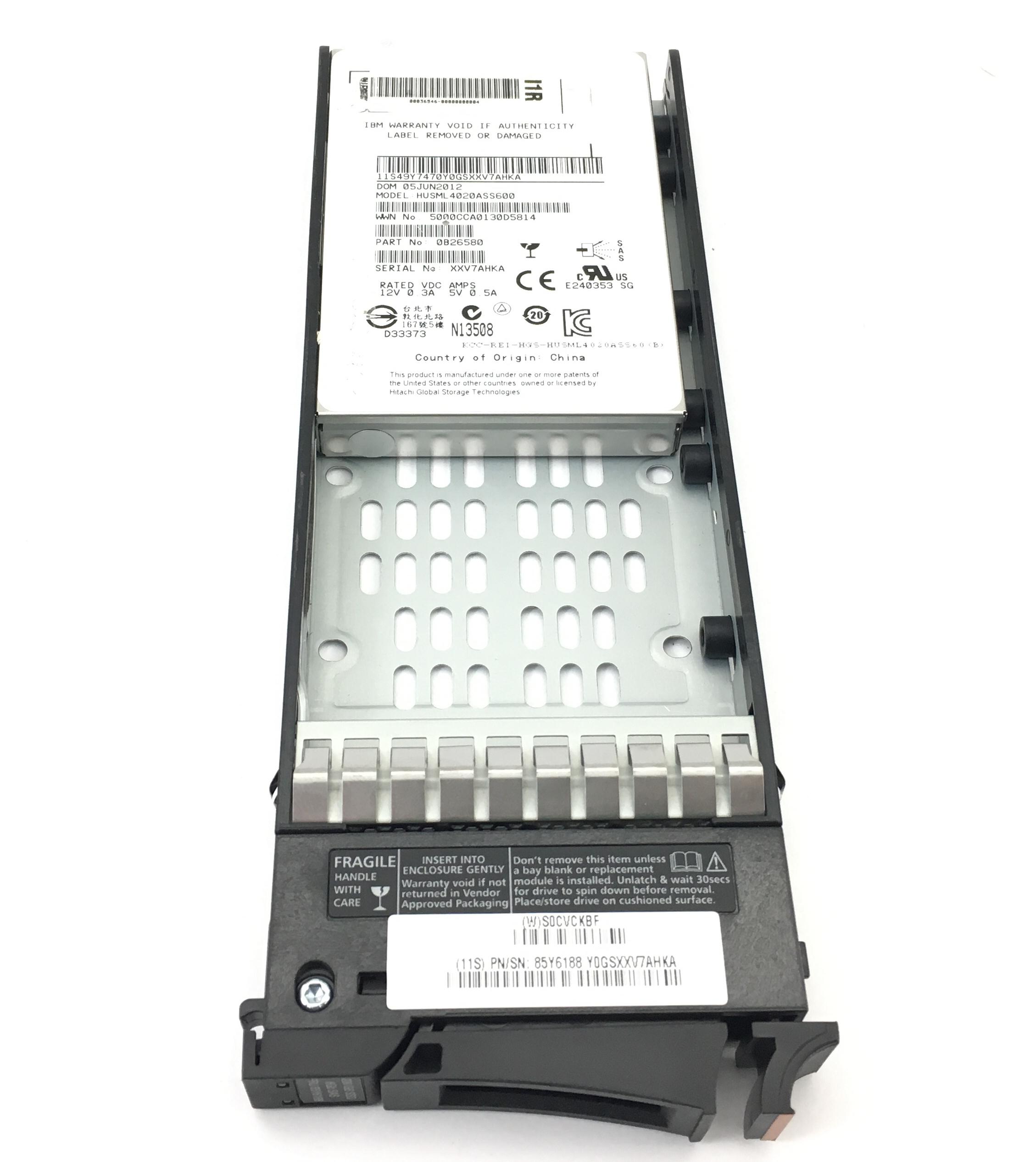 IBM HGST 200GB 6GBPS SAS 2.5'' SSD SOLID STATE DRIVE (85Y6188)