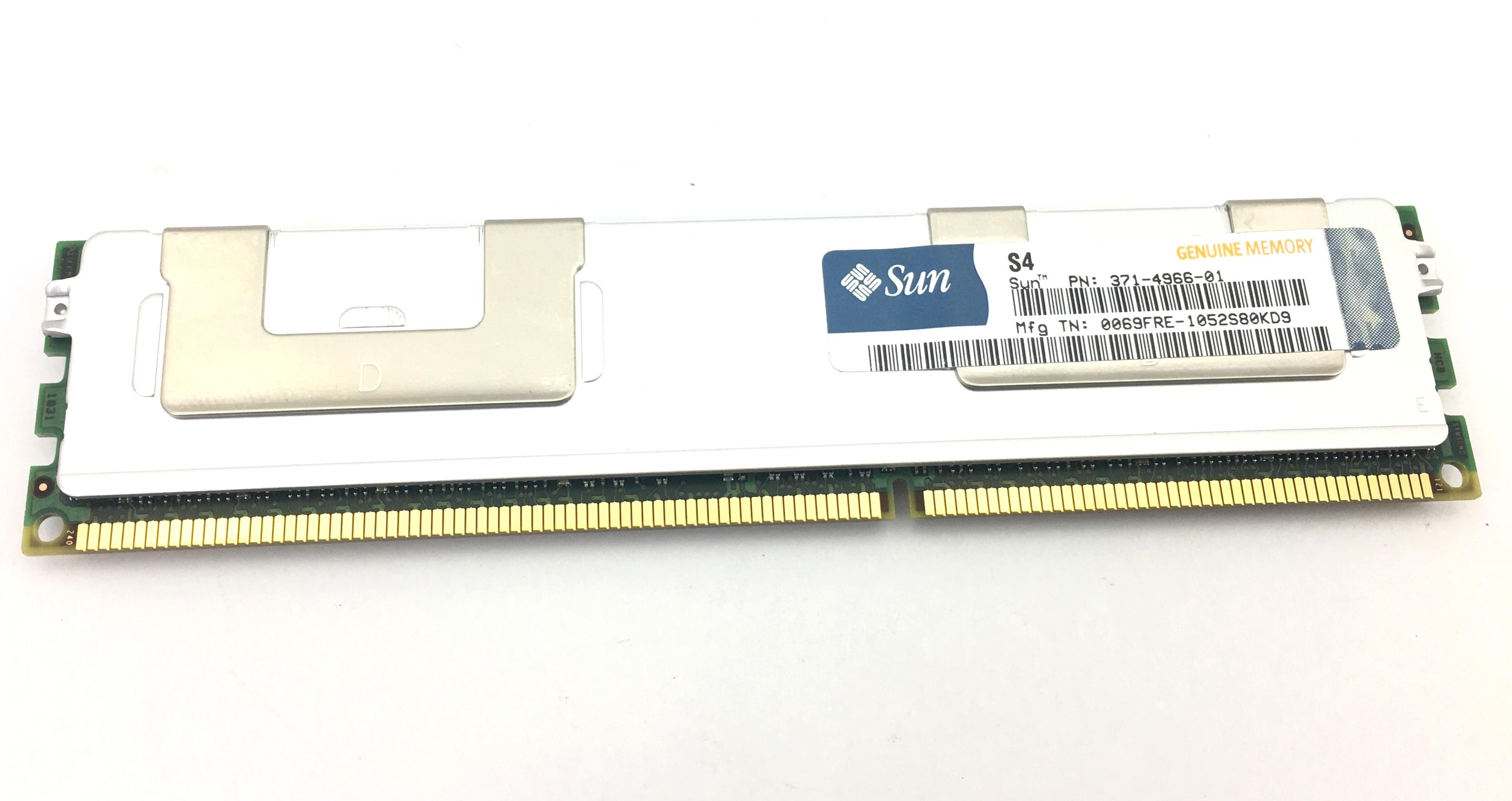 Sun 8GB 2Rx4 PC3L-10600R DDR3-1333 ECC REG Memory (371-4966-01)