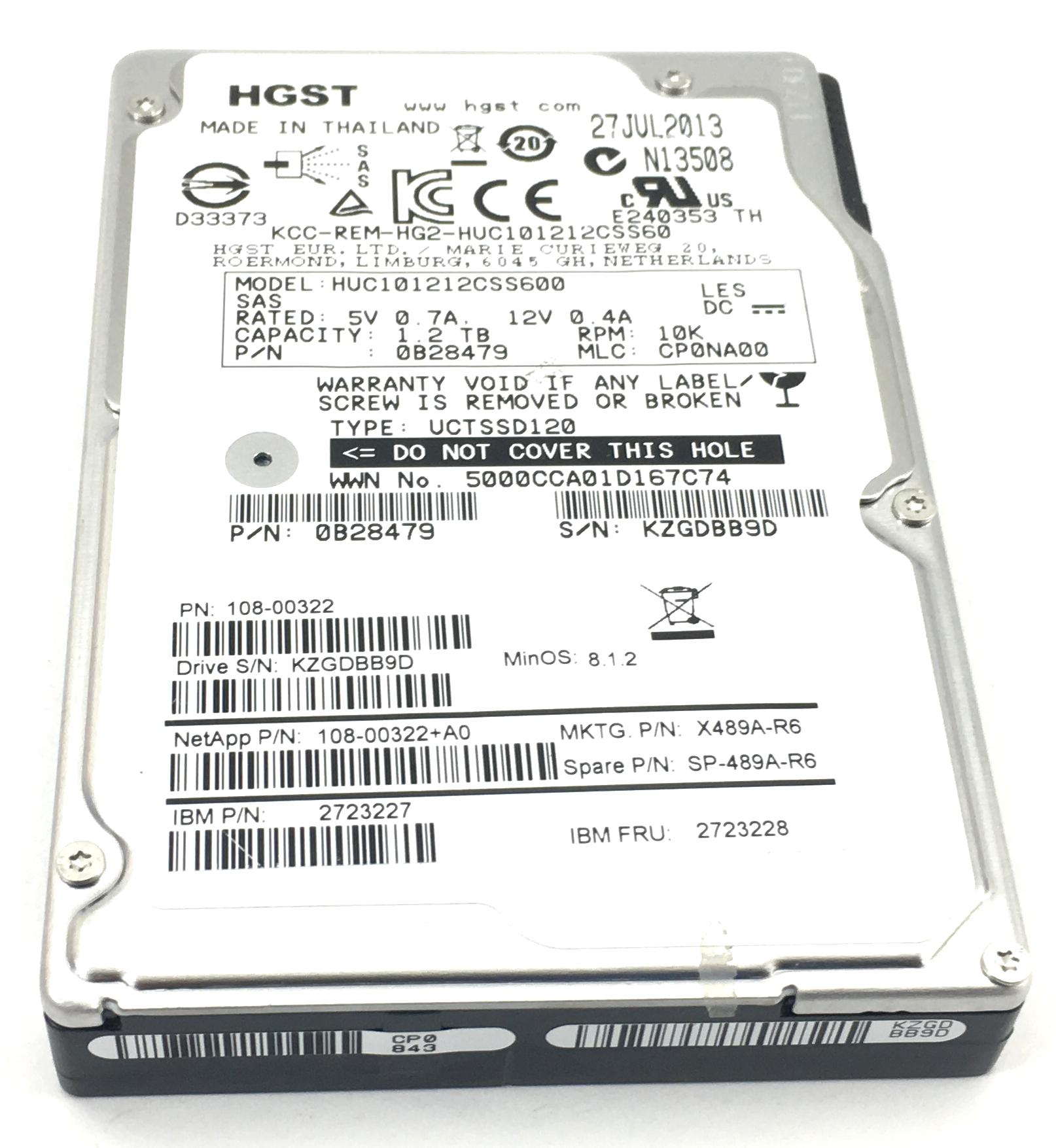 IBM 1.2TB 10K 6Gbps SAS 2.5'' Hard Drive (2723228)